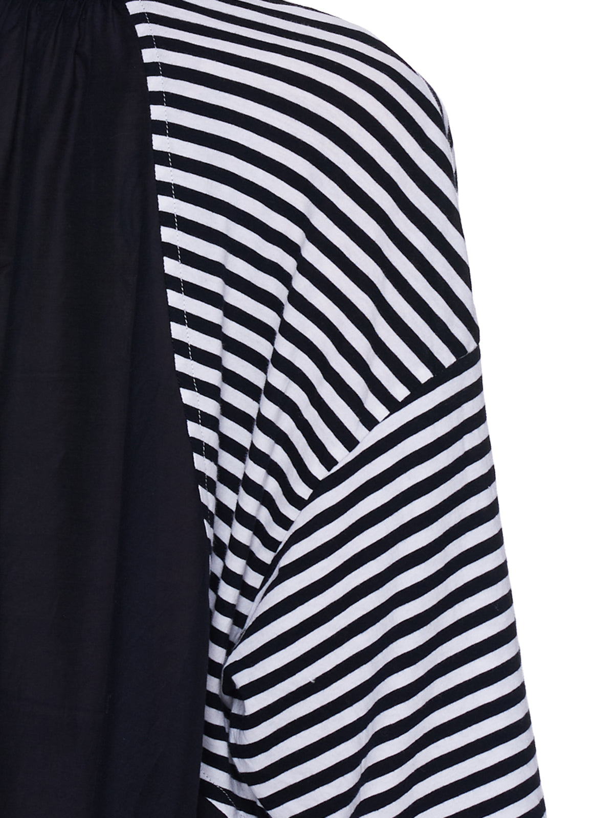 Striped Tee Dress (UC1A1804-3-BLACK-BORDER)