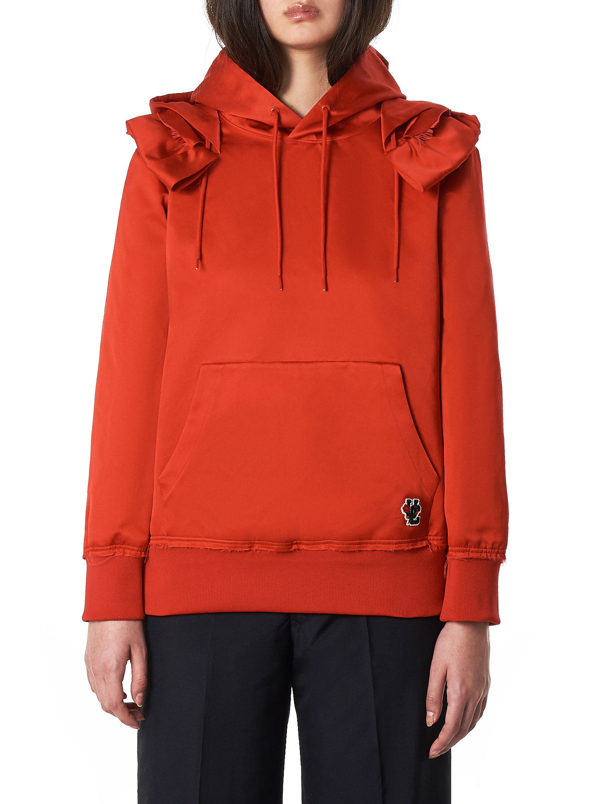 Undercover Silk Hoodie - Hlorenzo Front