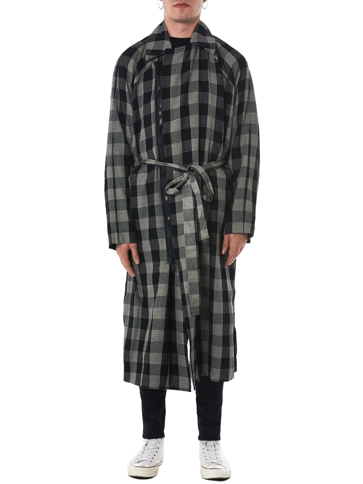 Undercover Check Coat - Hlorenzo Front