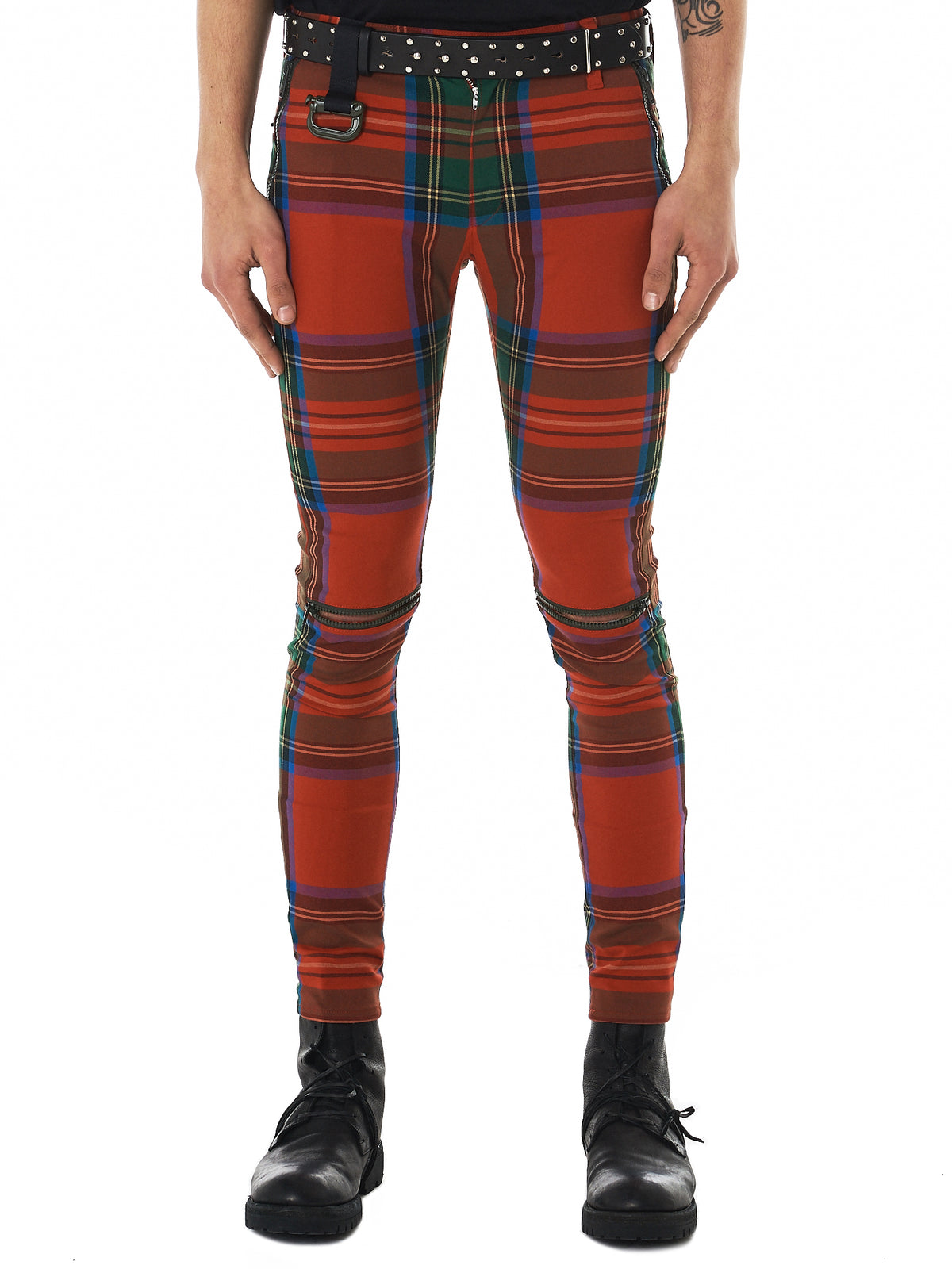 Undercover Plaid Trousers - Hlorenzo Front