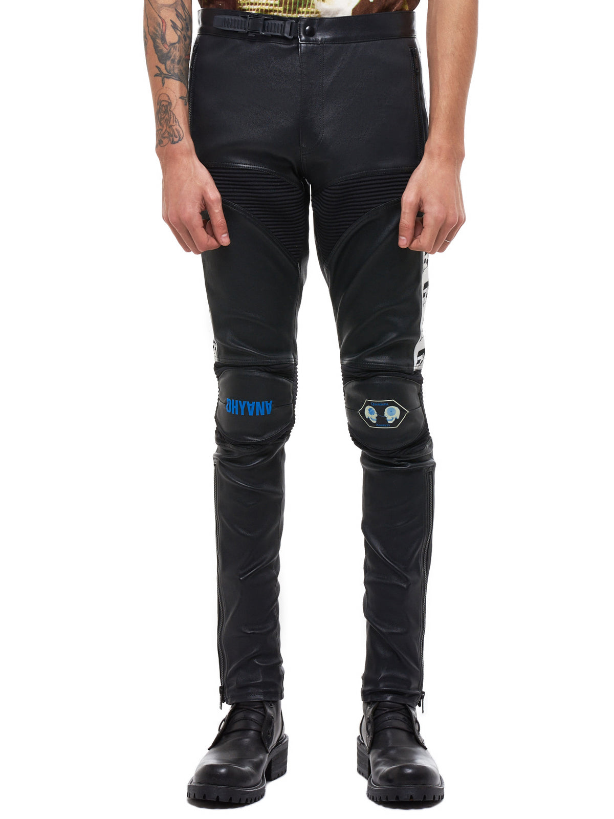 Undercover Leather Pants - Hlorenzo Front