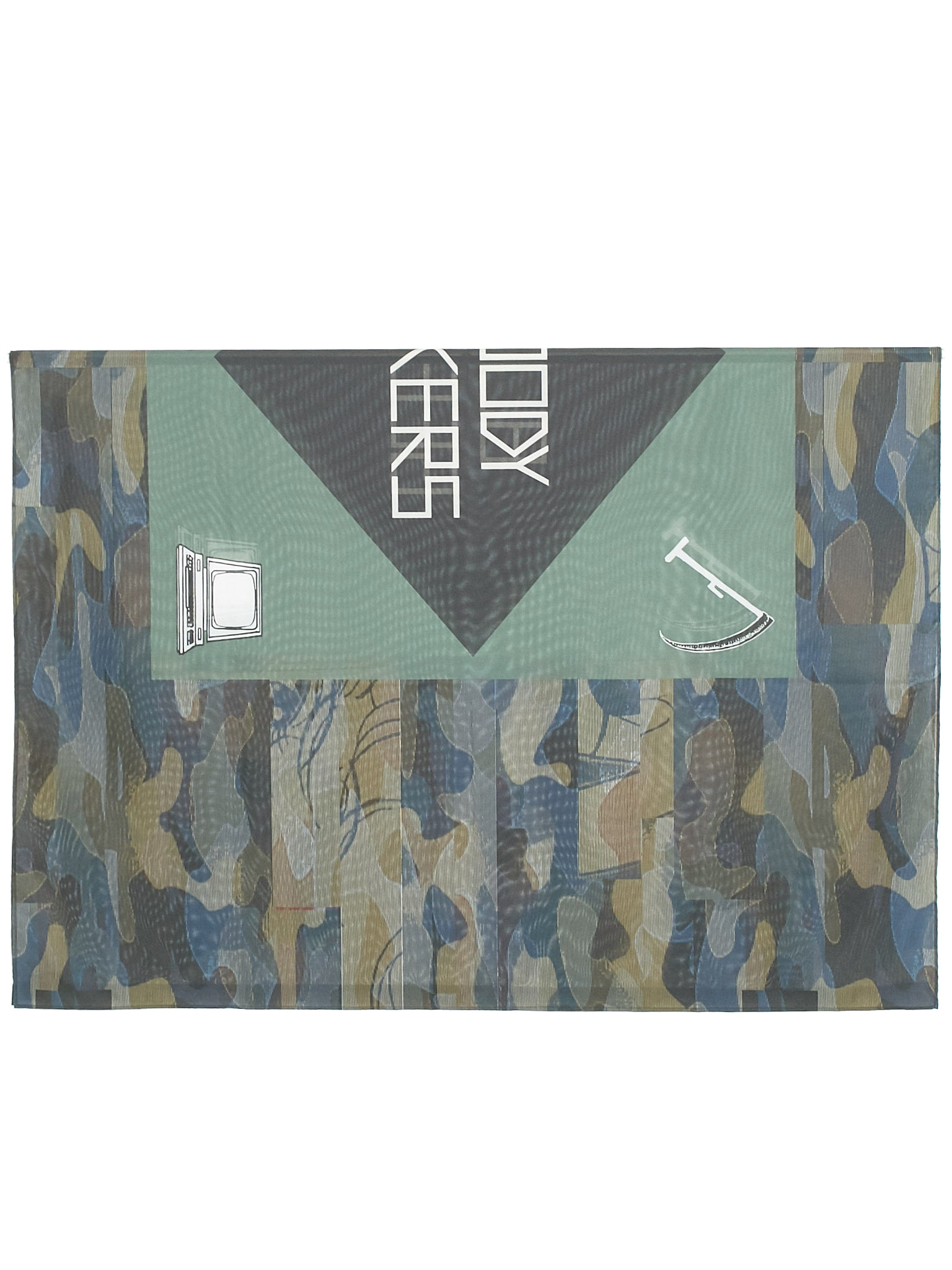 Oversize Printed Flag (UCW4Z01-5-GREEN)