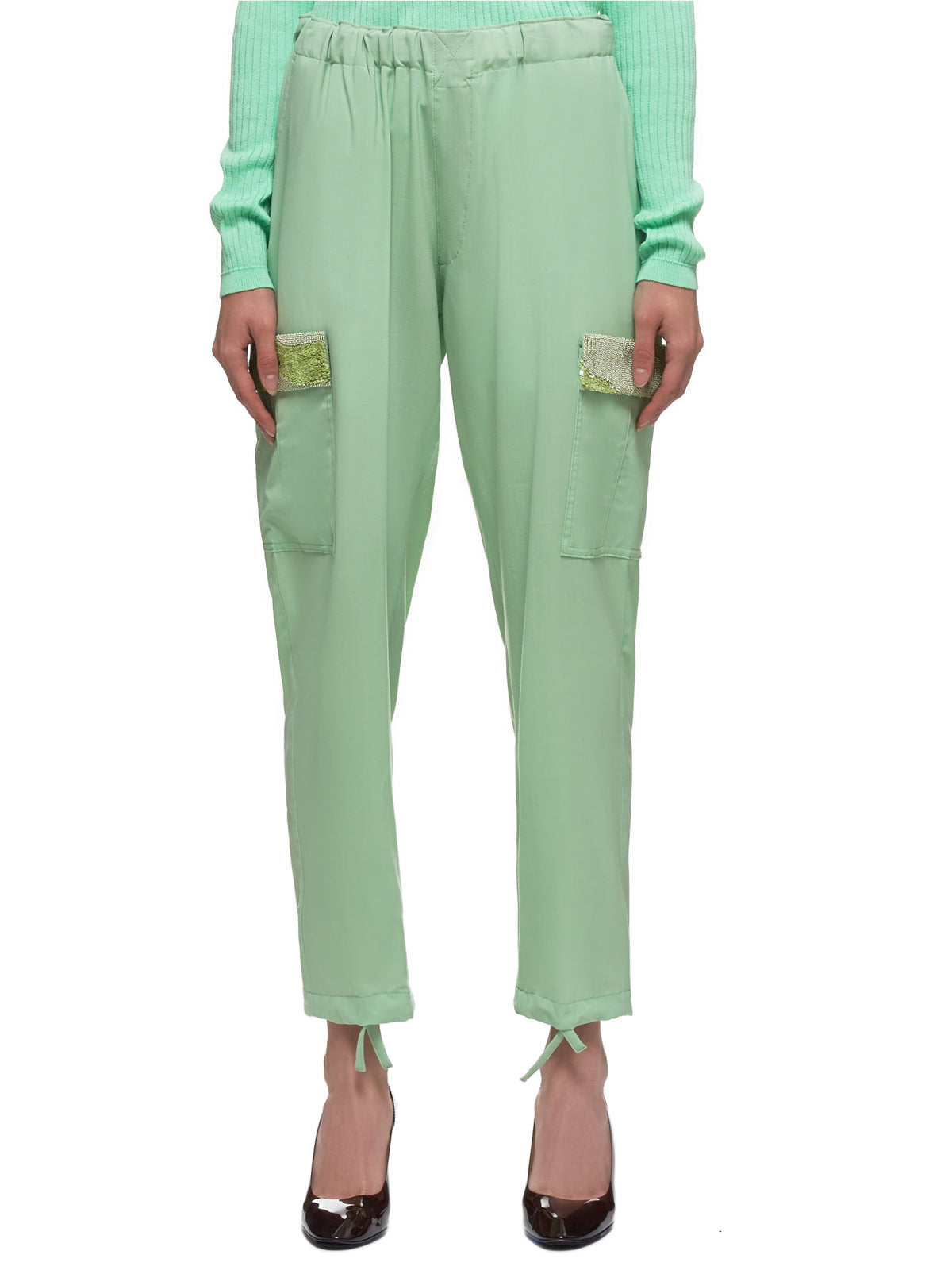 Sequin Trouser (UCY1511-1-PALE-GREEN)