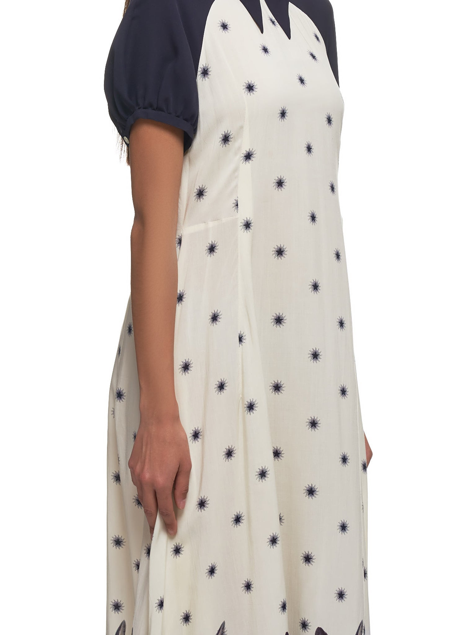 Starry Cat A-Line Dress (UCY1702-IVORY)