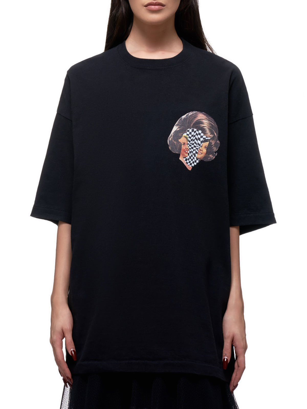Oversized Graphic T-Shirt (UCY1892-2-BLACK)