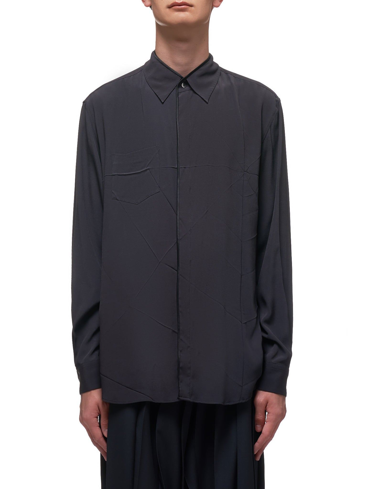 Button down Jersey Shirt (UCY4406-BLACK)