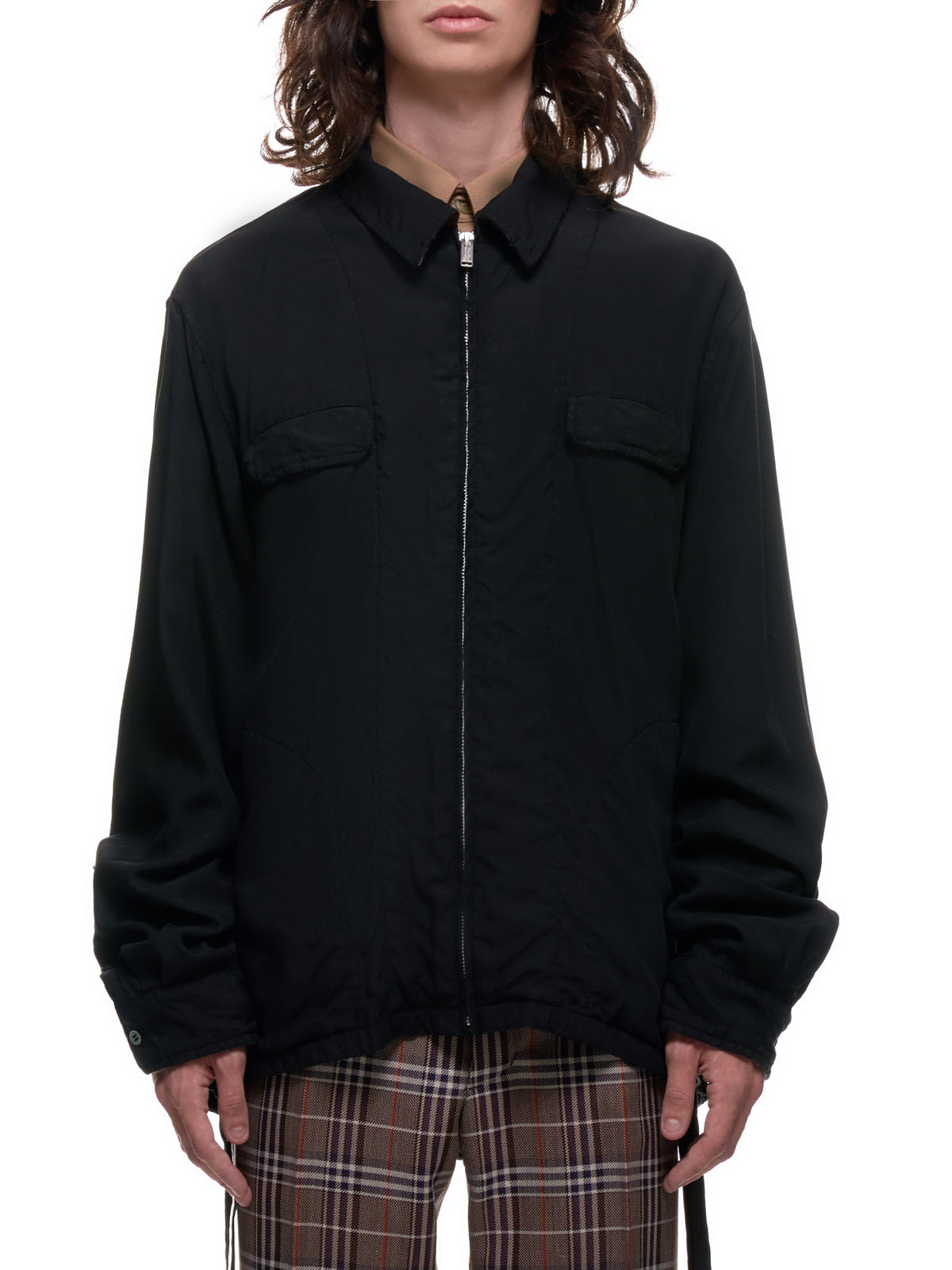 Zip-Up Blouson (UCZ4404-1-BLACK)