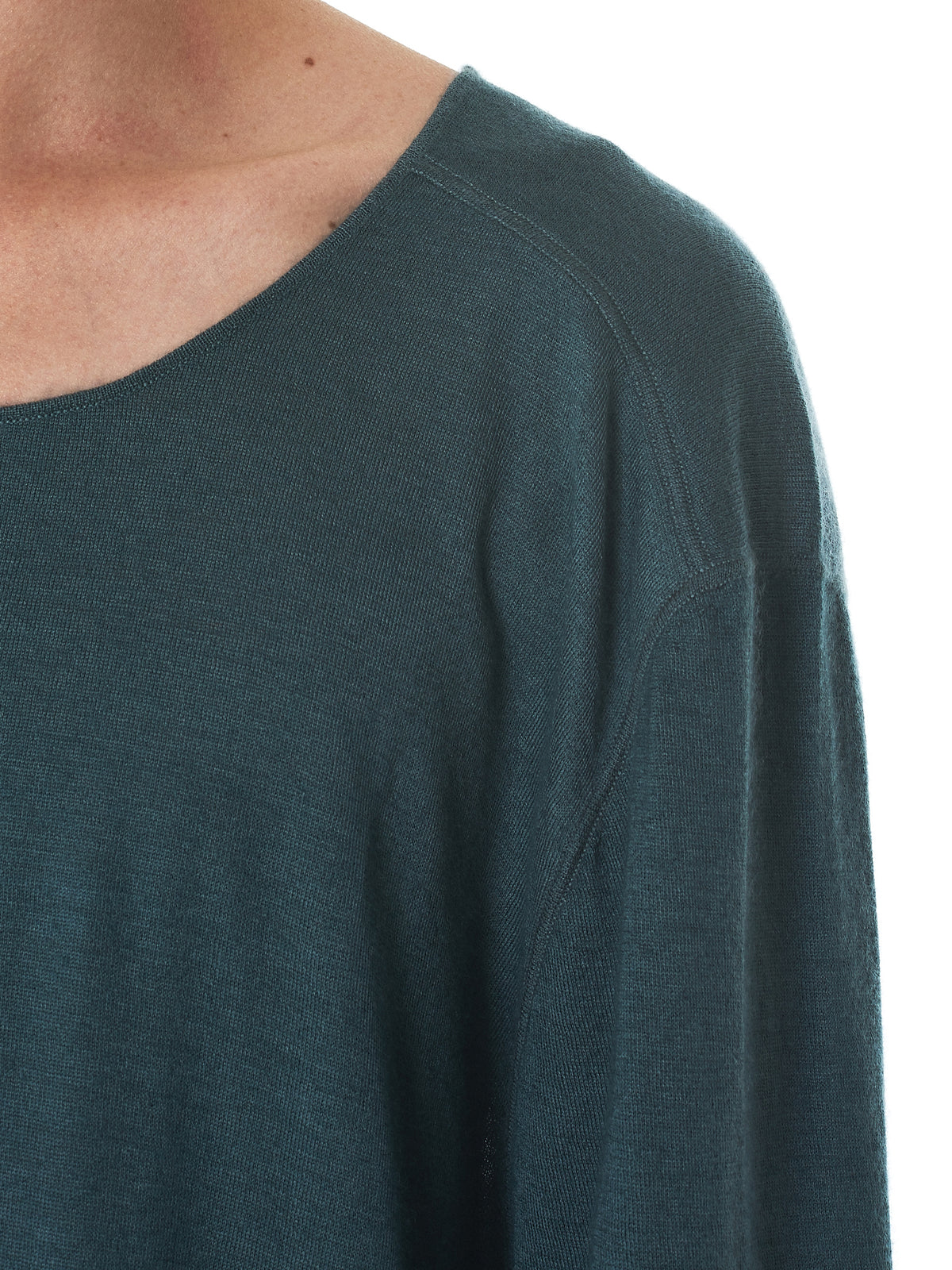 Denis Colomb Cashmere Tee - Hlorenzo collar detail