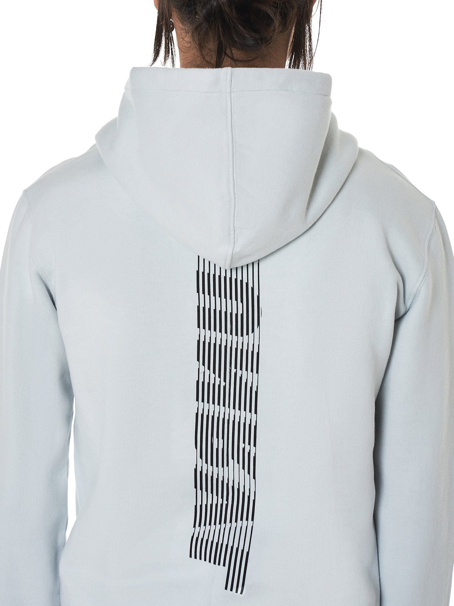 Ribbon Hooded Pullover (UMBB001F18209005-LIGHT-GREY)