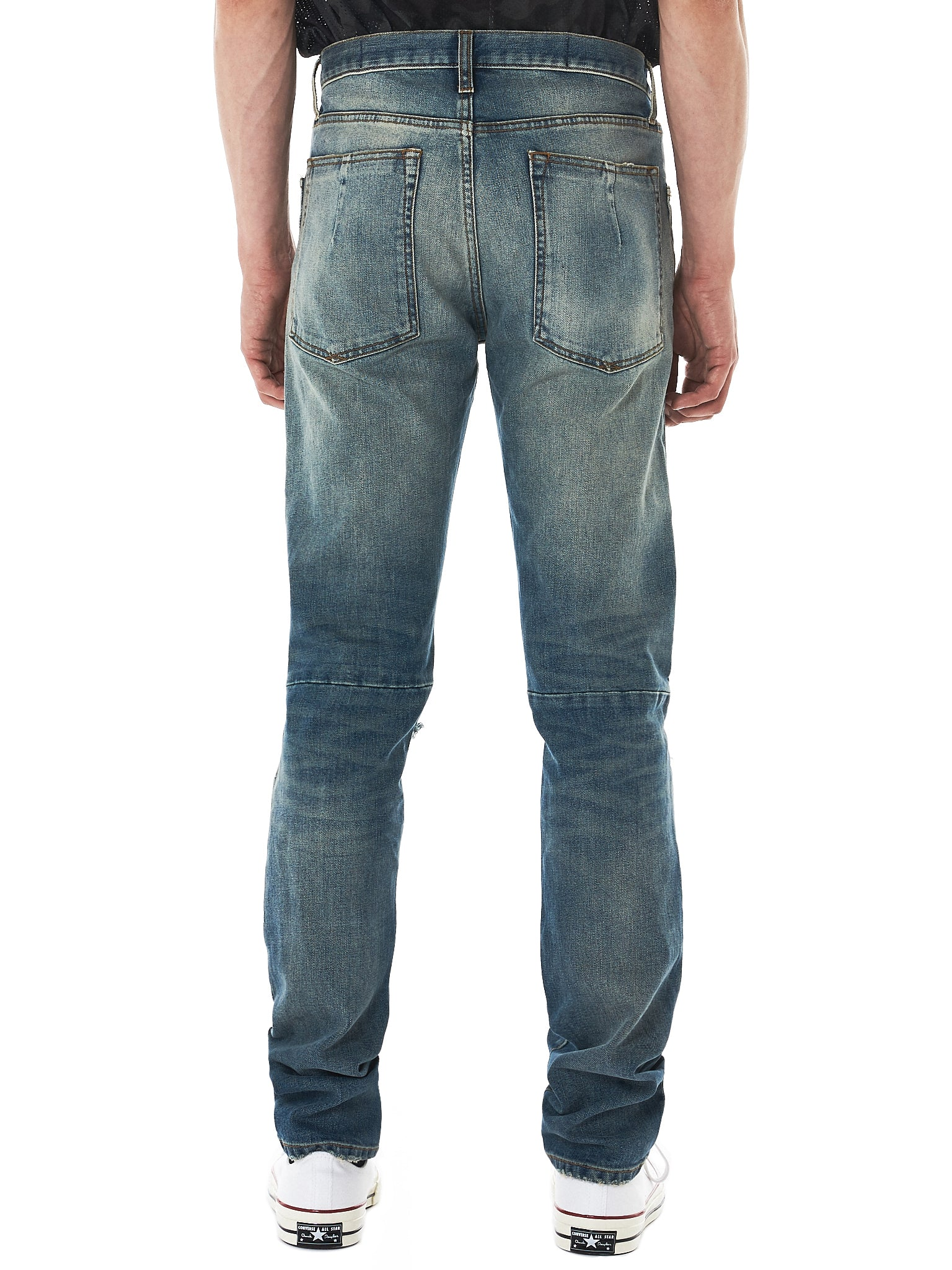 Unravel Distressed Jeans - Hlorenzo Back