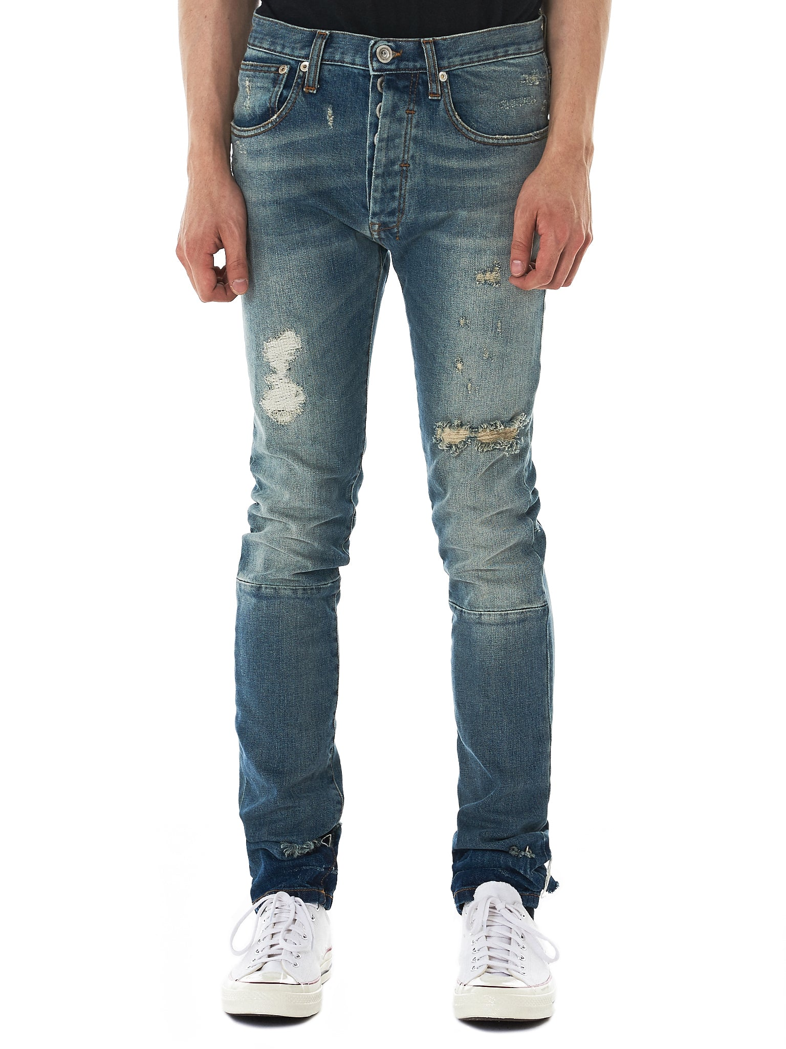 Unravel Distressed Jeans - Hlorenzo Front