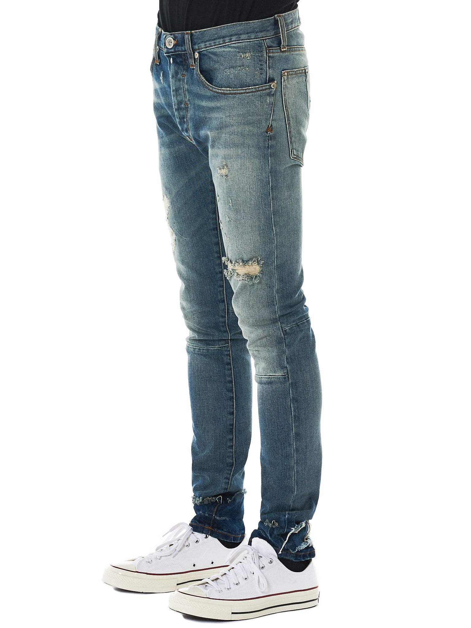 Unravel Distressed Jeans - Hlorenzo Side