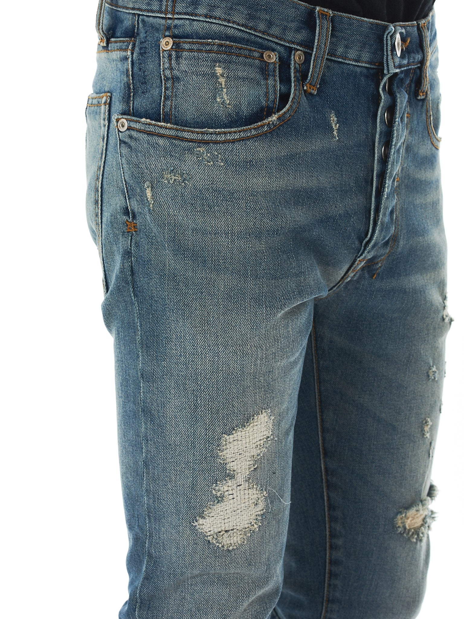 Unravel Distressed Jeans - Hlorenzo Detail 2