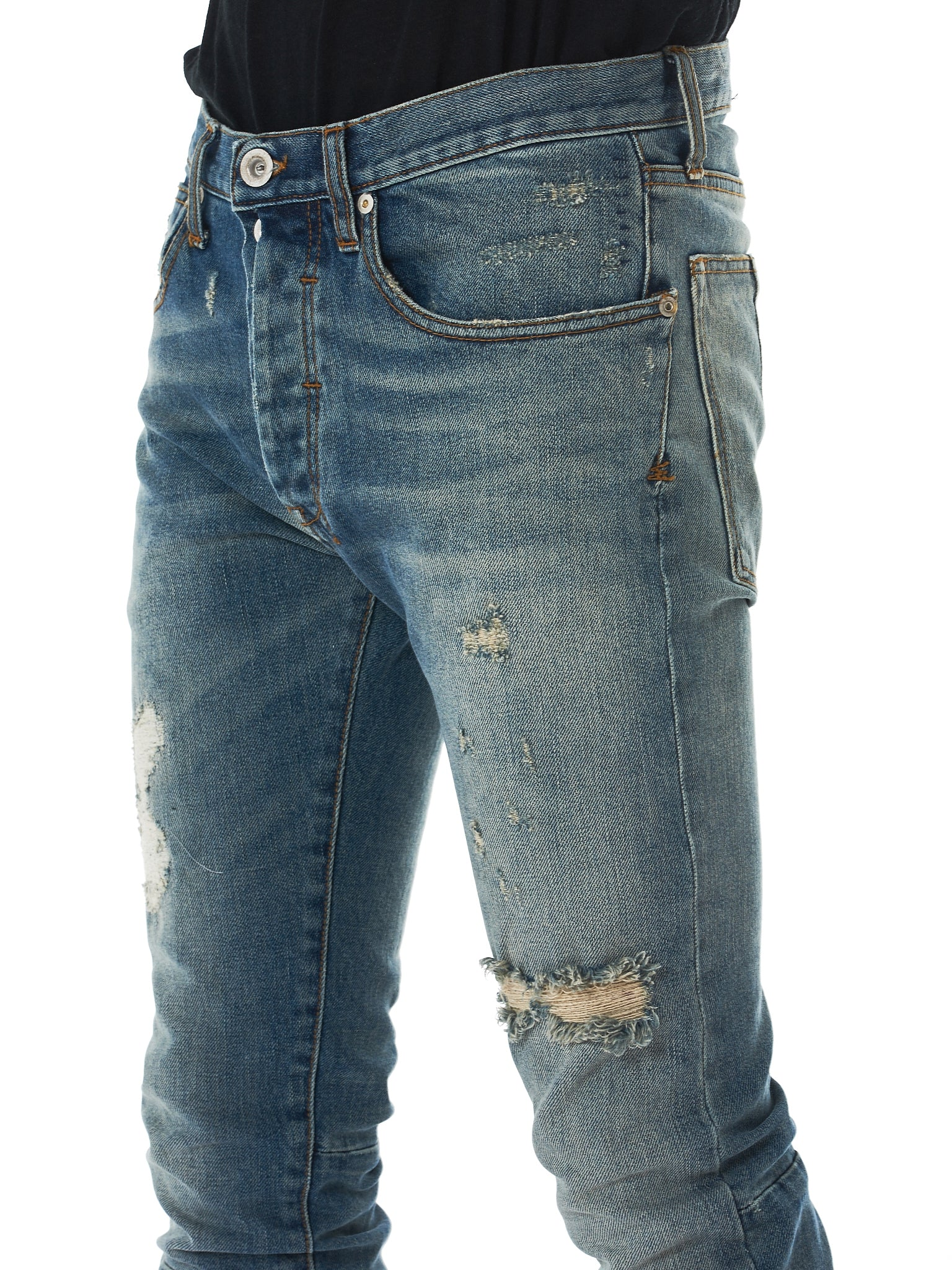 Unravel Distressed Jeans - Hlorenzo Detail 3