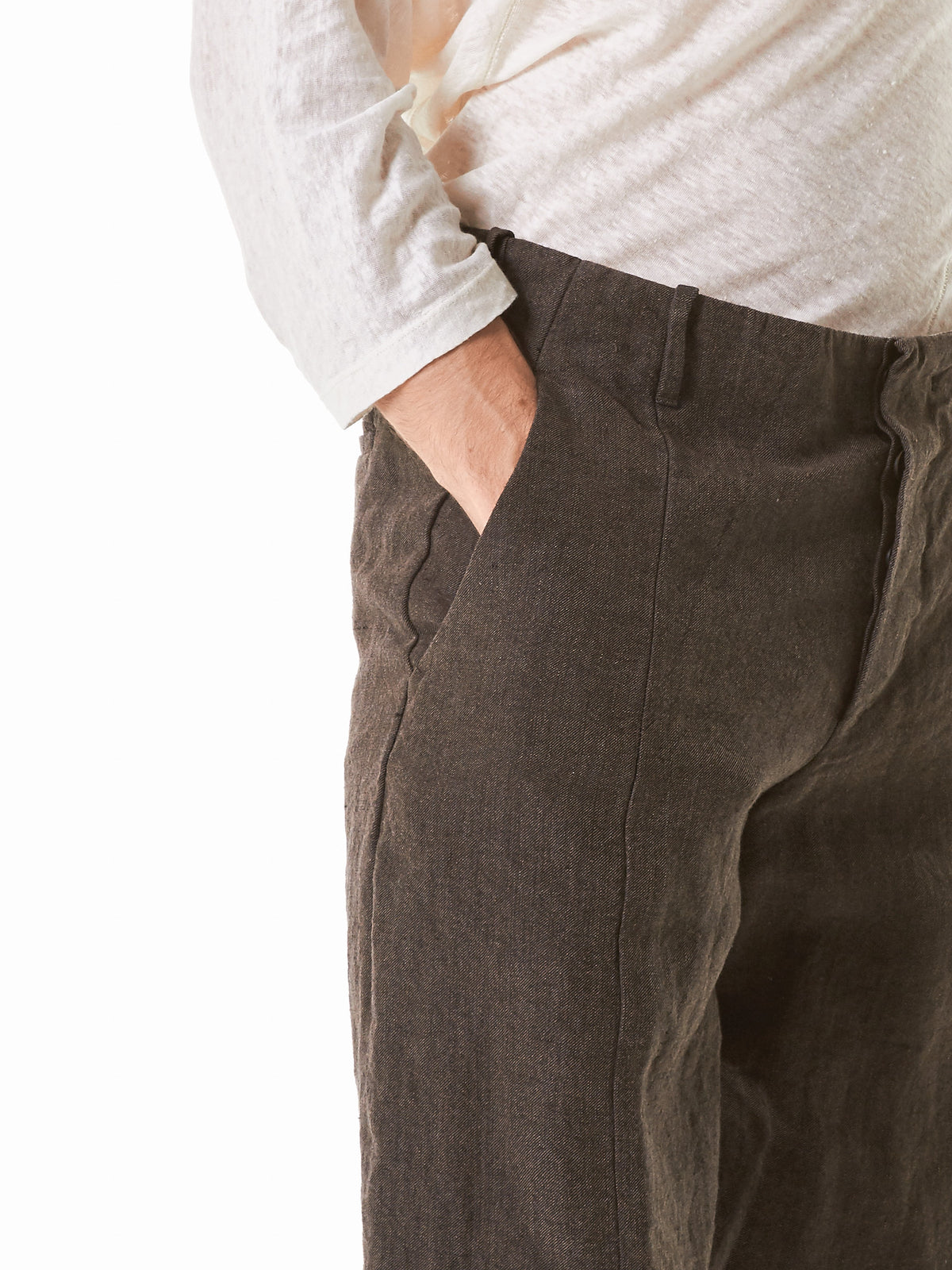 Lightweight Denim Trousers (UP001-ALTT-MOCHA) - H. Lorenzo