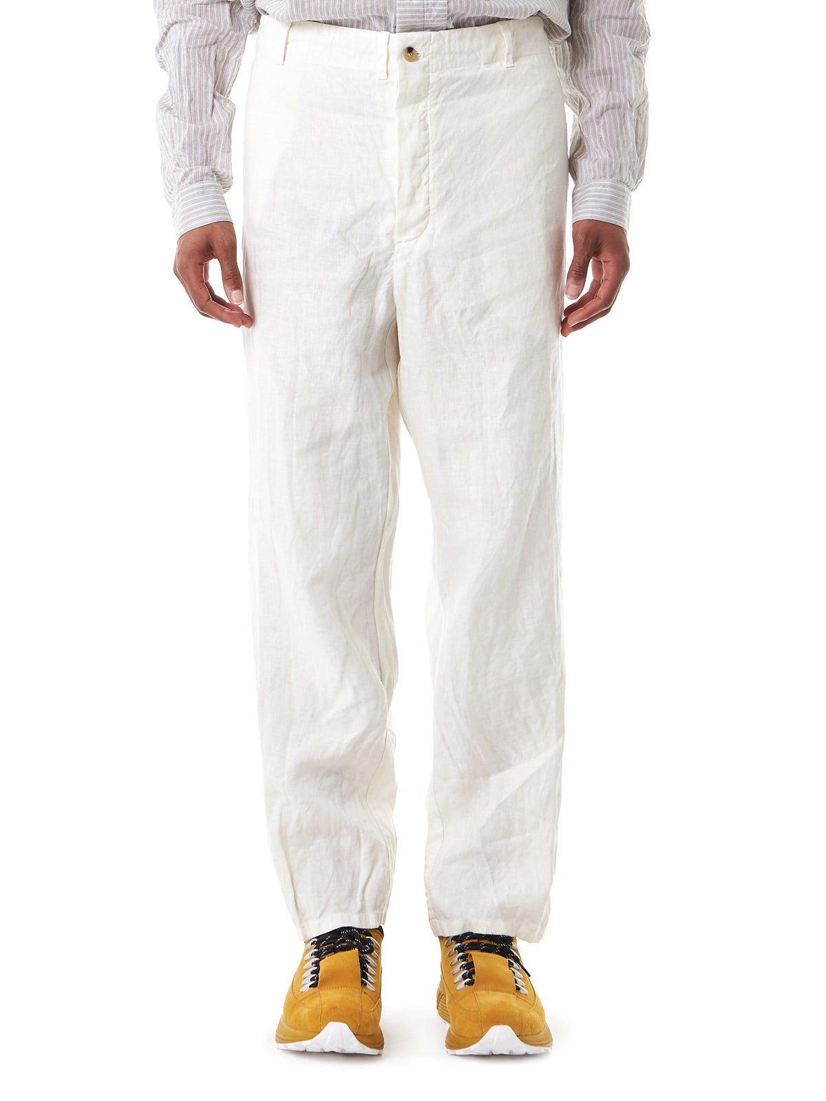 'Scrub' Relaxed-Fit Trousers (UP014-GCTE-ECRU) - H. Lorenzo