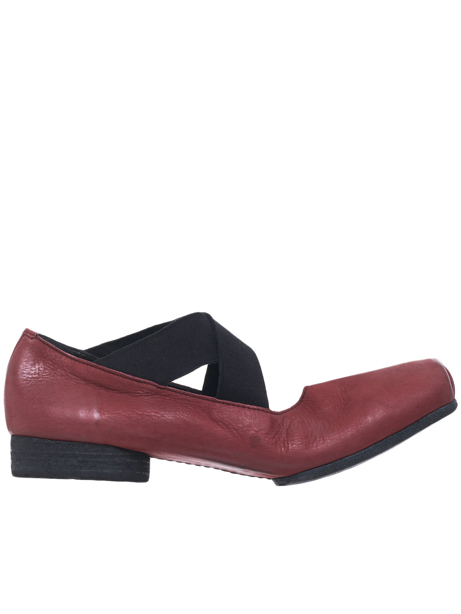 Leather Ballet Shoes (US9003-RED-BLACK)