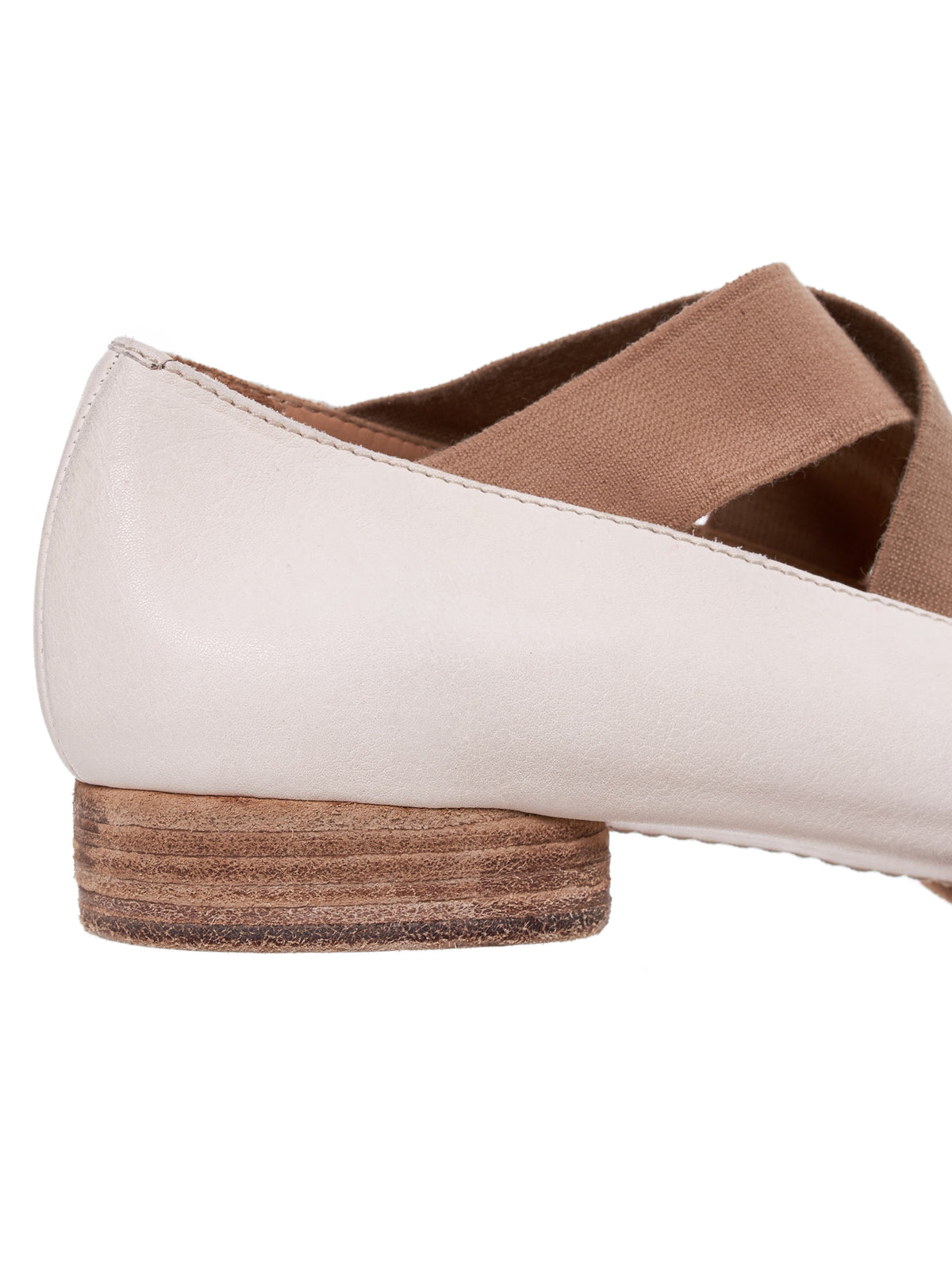 Leather Ballet Shoe (US9005-WHITE)