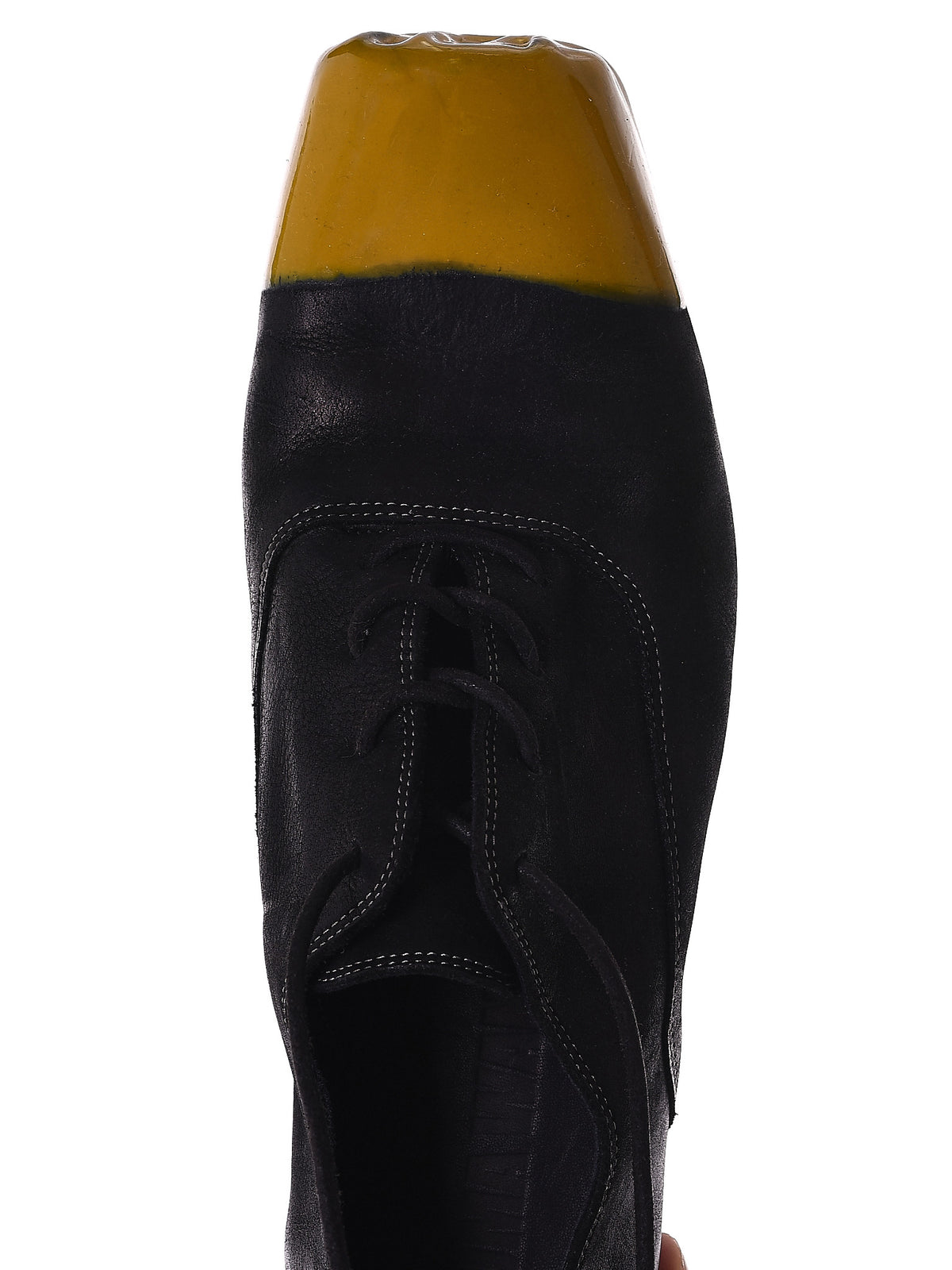 Gold Dipped Derby Shoes (US9042-BLACK-TAN) - H. Lorenzo