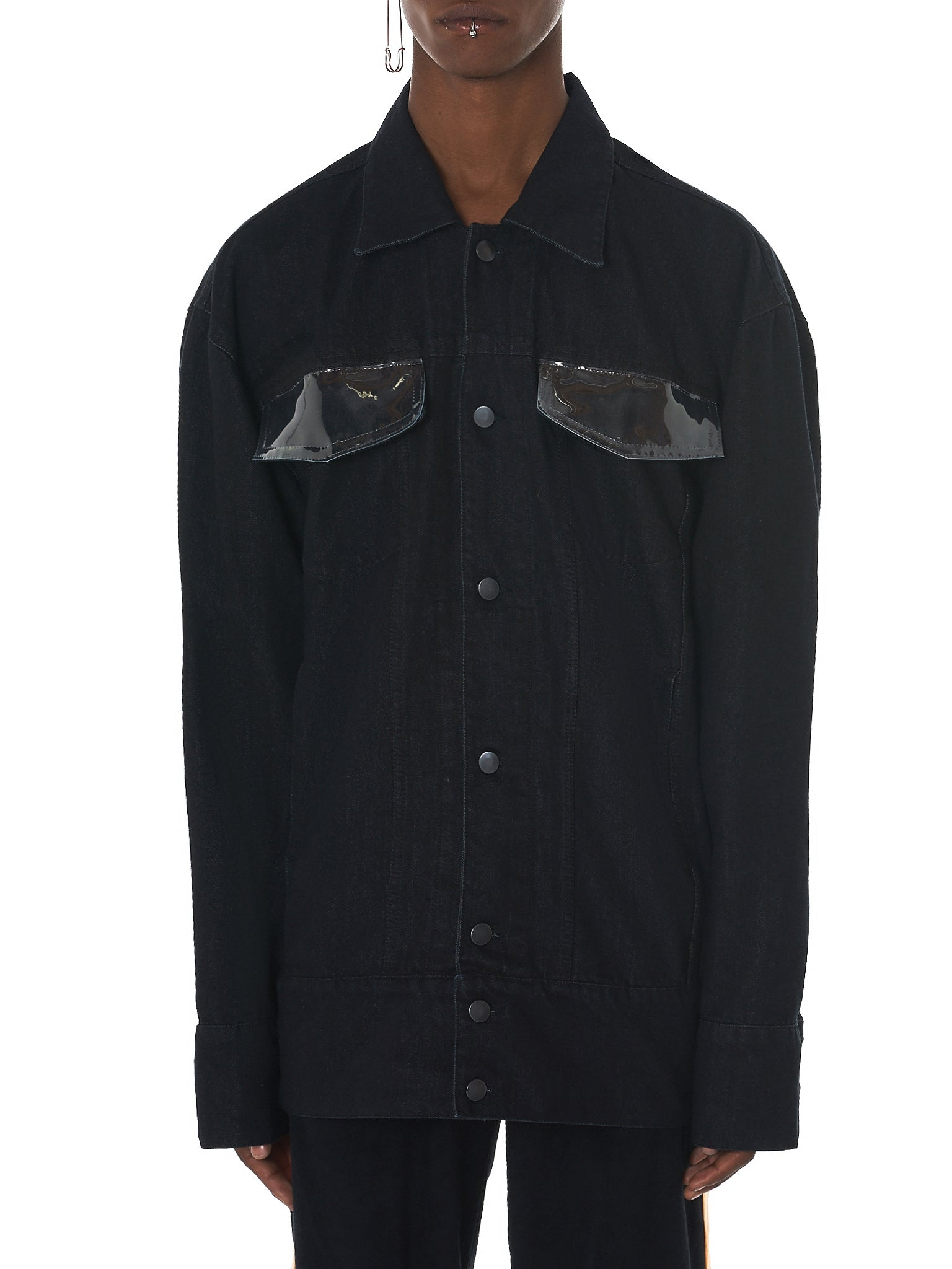 Tourne De Transmission Denim Jacket - HLorenzo Front