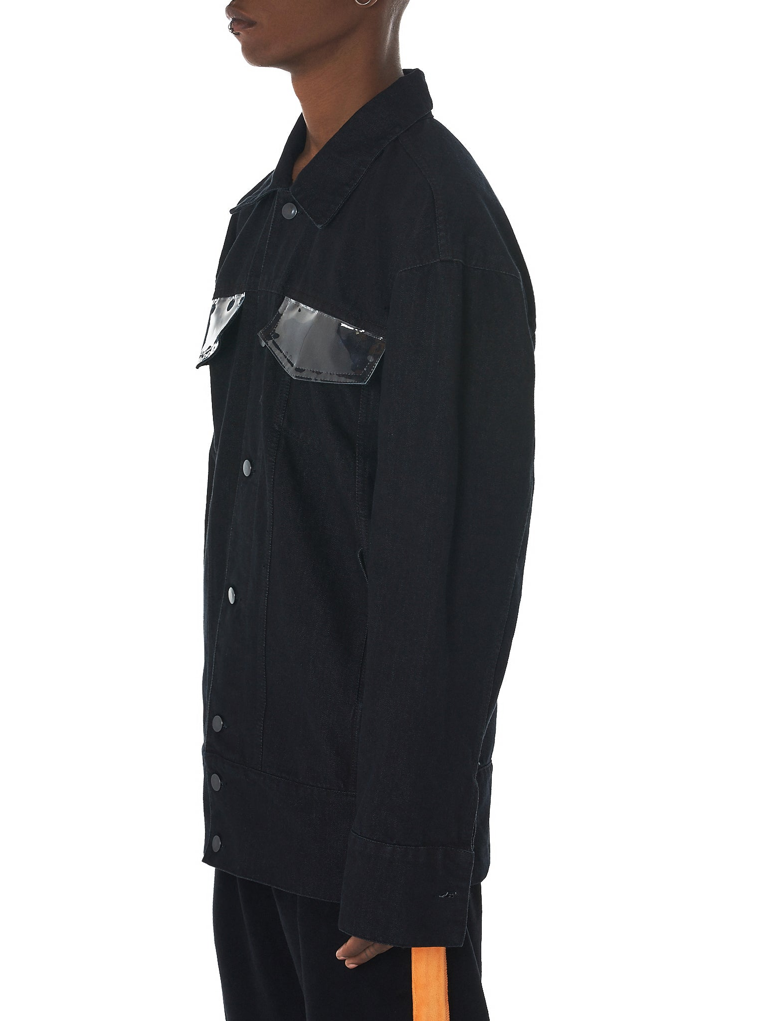 Tourne De Transmission Denim Jacket - HLorenzo Side