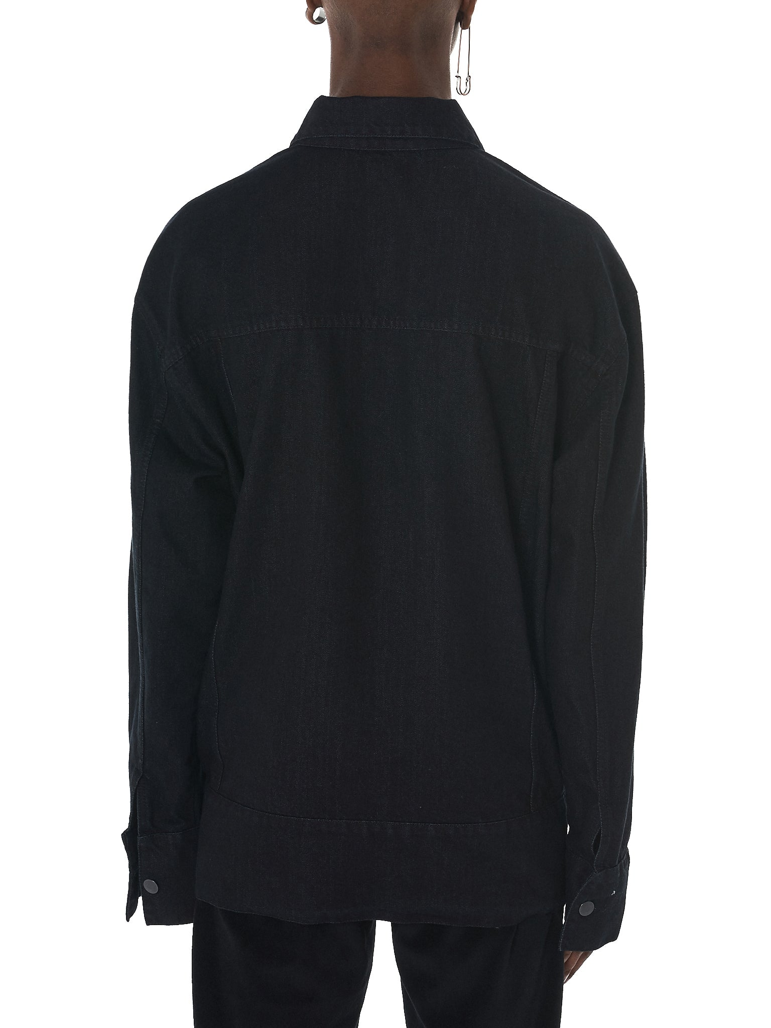 Tourne De Transmission Denim Jacket - HLorenzo Back