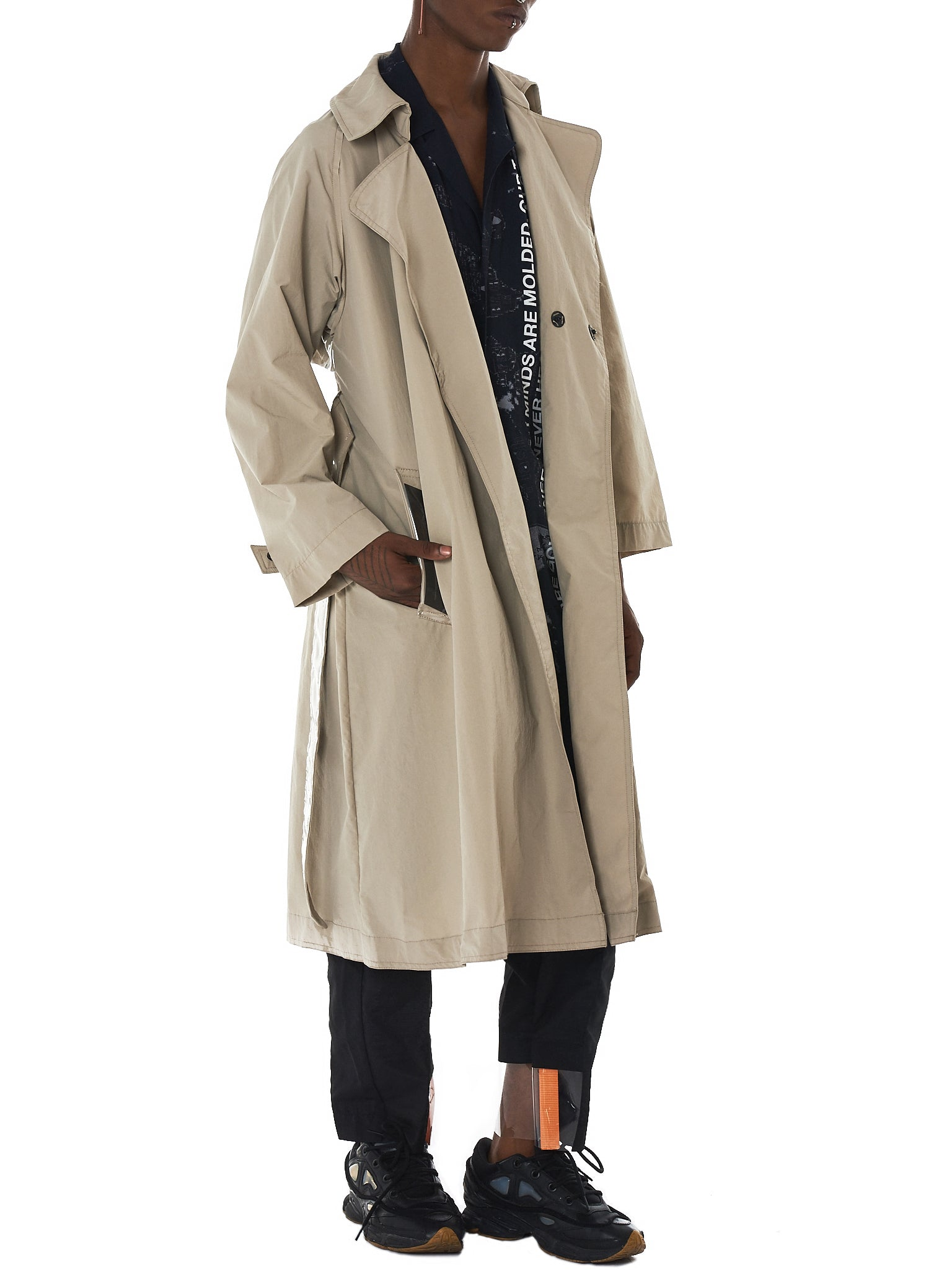 Tourne De Transmission Trench Coat - HLorenzo Style