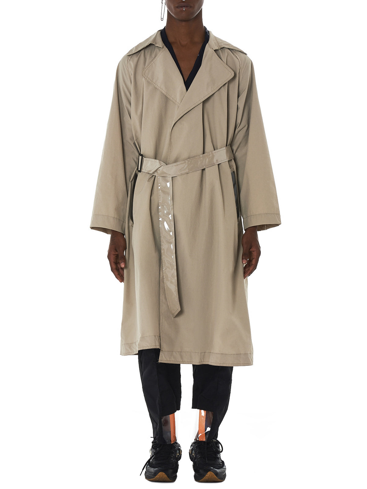Tourne De Transmission Trench Coat - HLorenzo Front