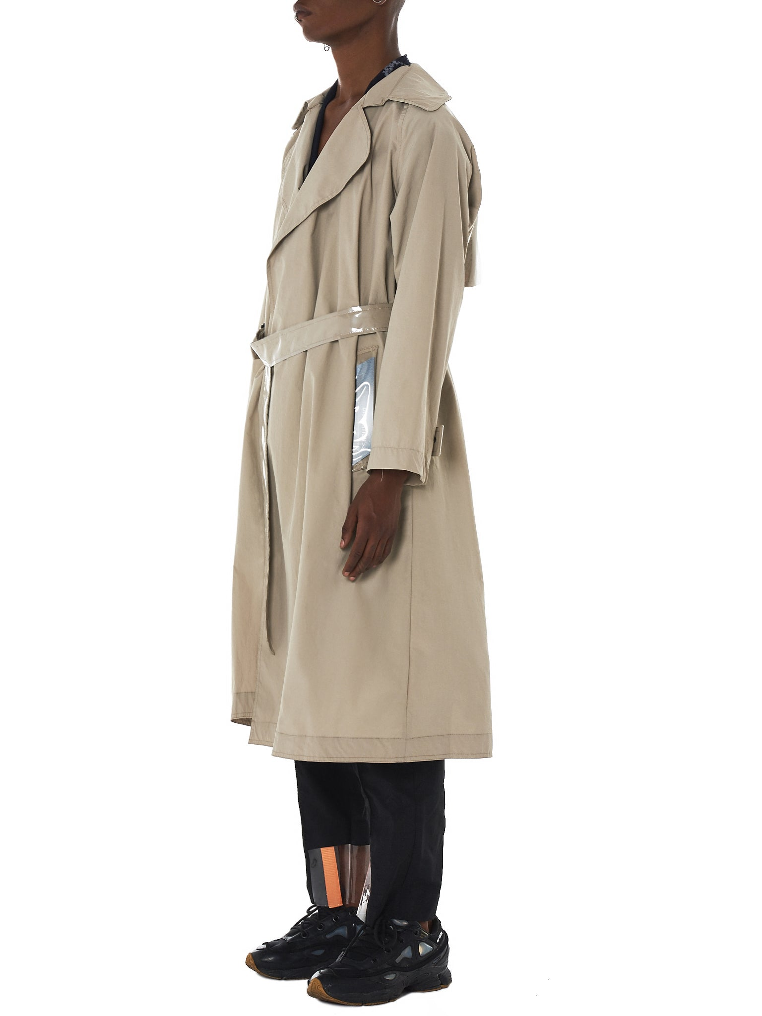 Tourne De Transmission Trench Coat - HLorenzo Side