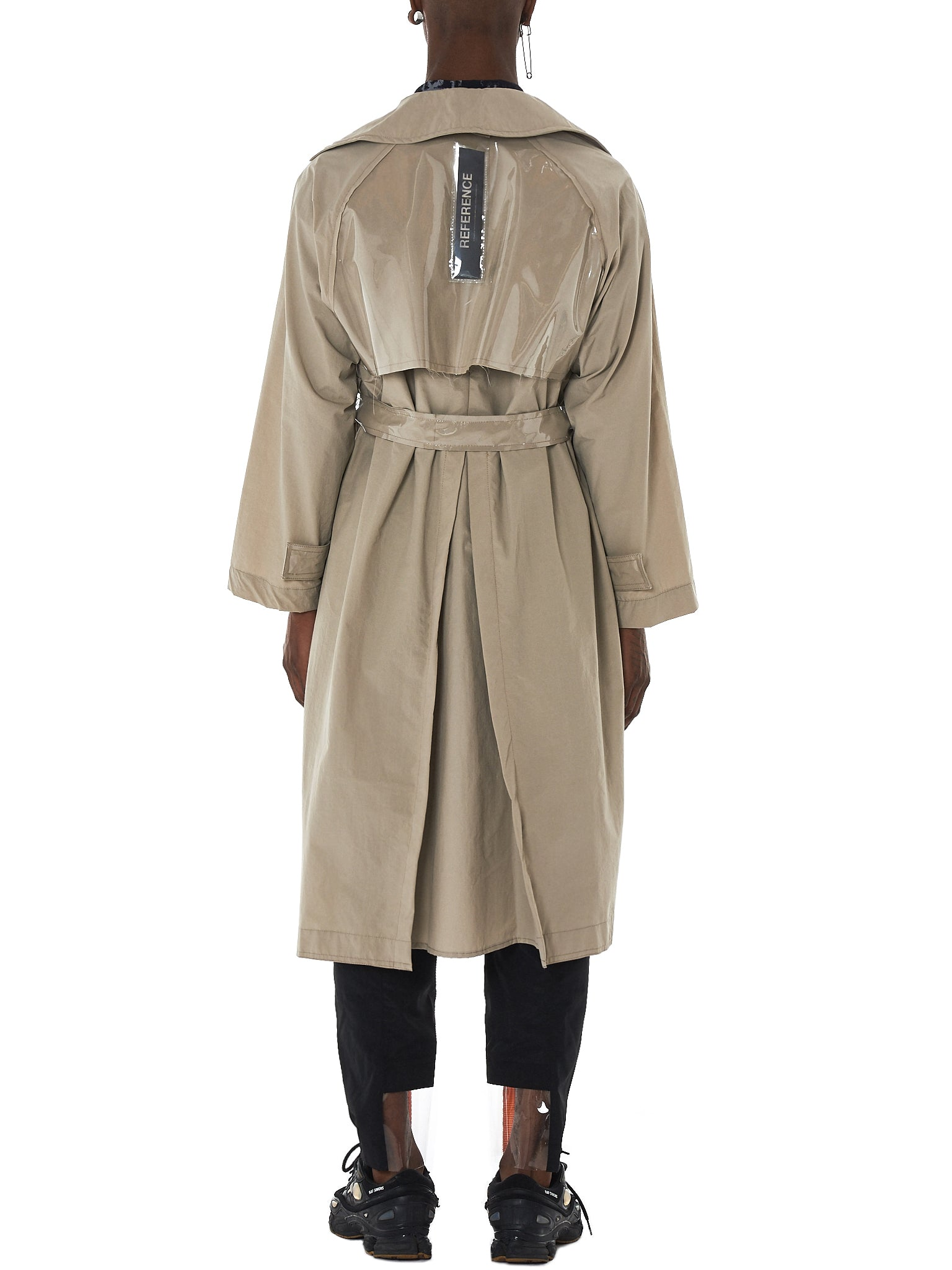 Tourne De Transmission Trench Coat - HLorenzo Back