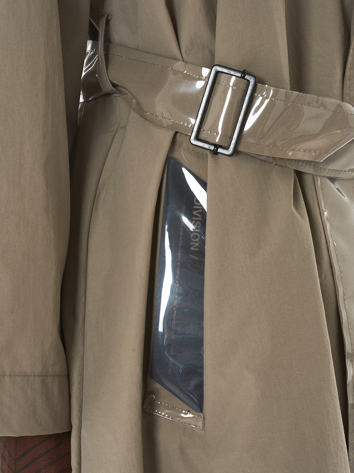 Tourne De Transmission Trench Coat - HLorenzo Detail 2