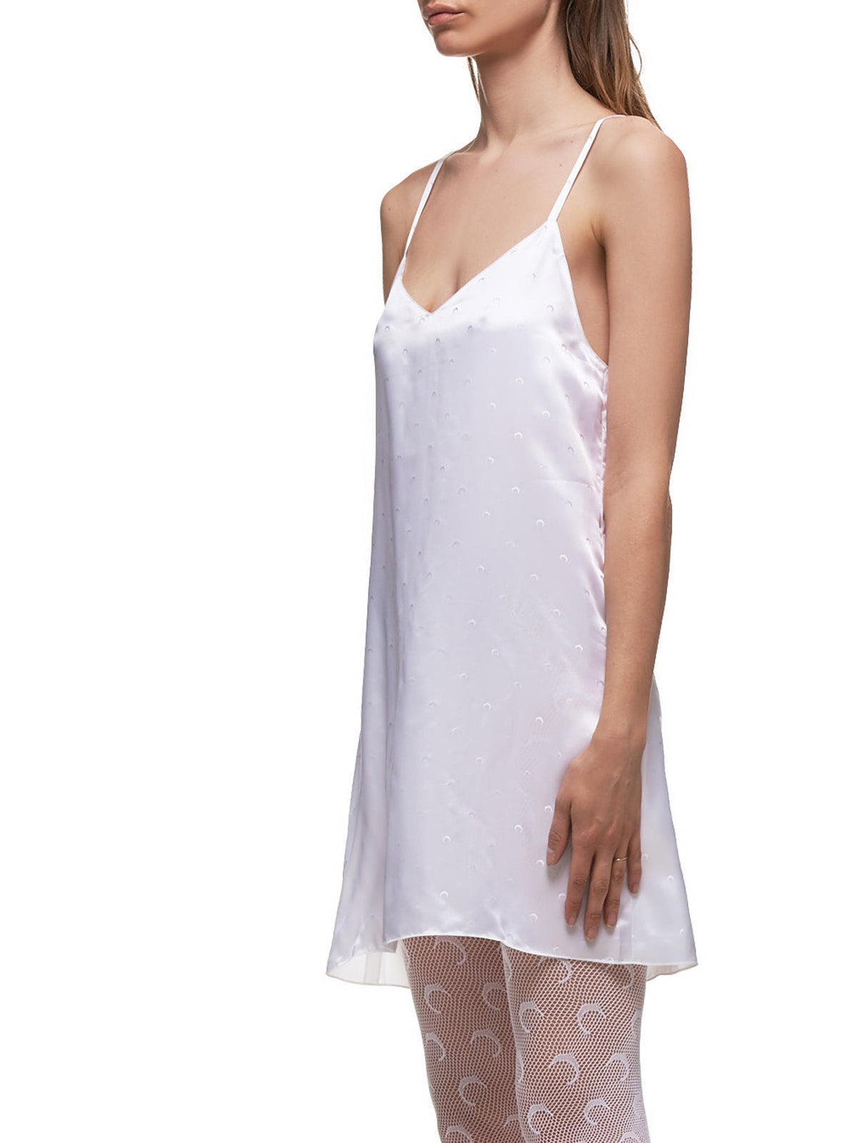 Slip Dress (UW008-WHITE-JACQUARD)