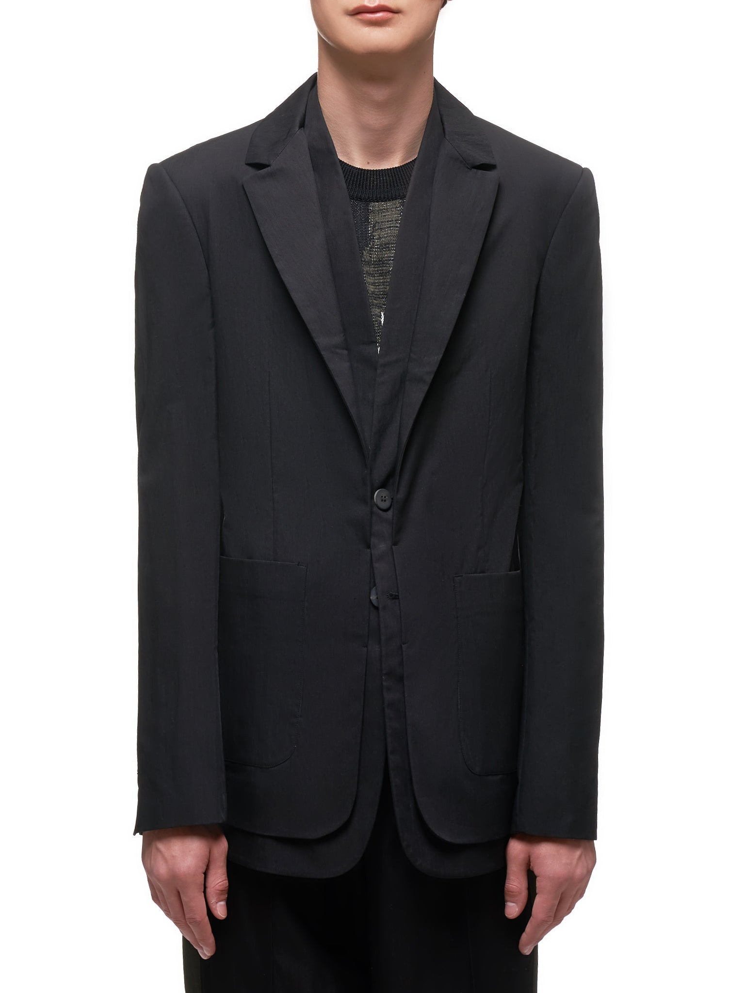 Textured Sport Coat (UW61-BLACK)