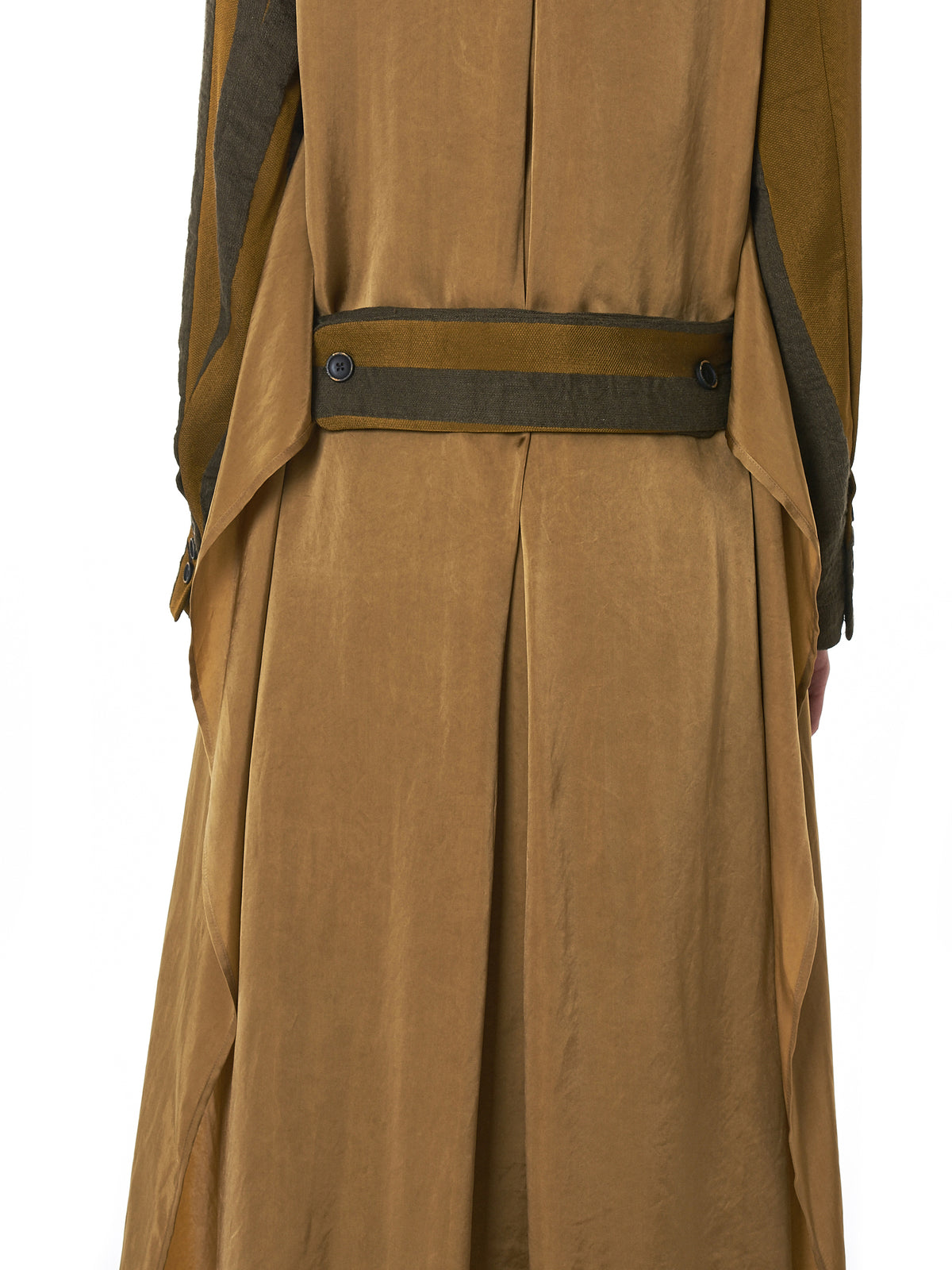 'Charo' Lapelless Coat (UW8096-MUSTARD-BROWN)