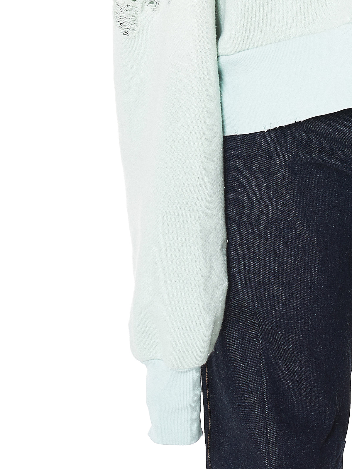 Unravel Distressed Pullover - Hlorenzo Detail 2
