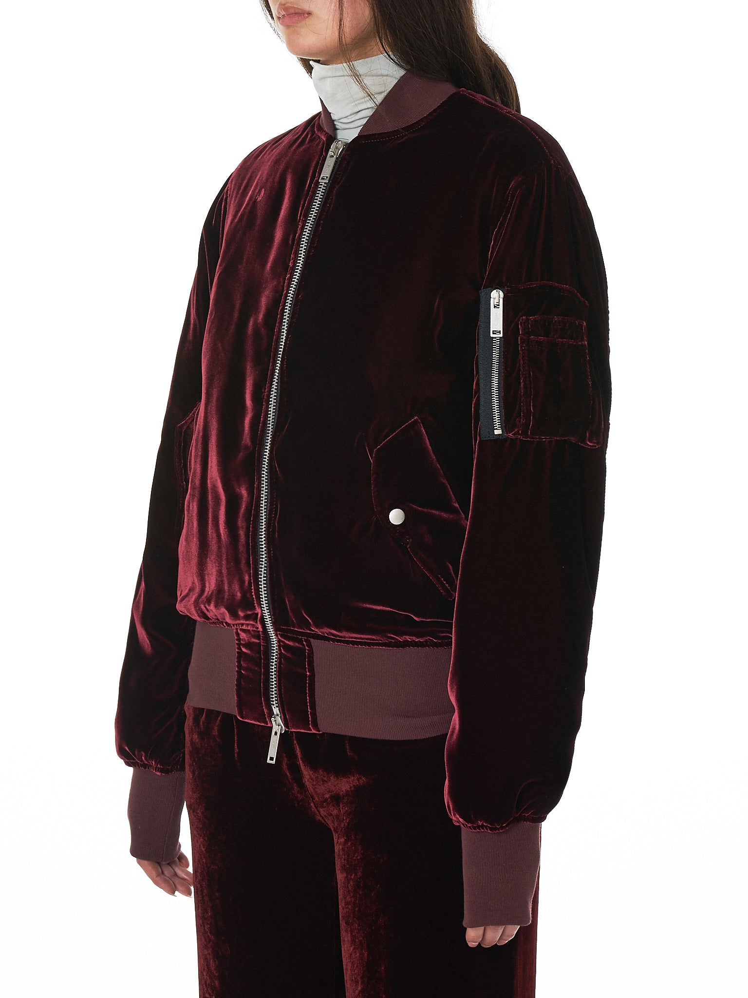 Unravel Bomber Jacket - Hlorenzo Side