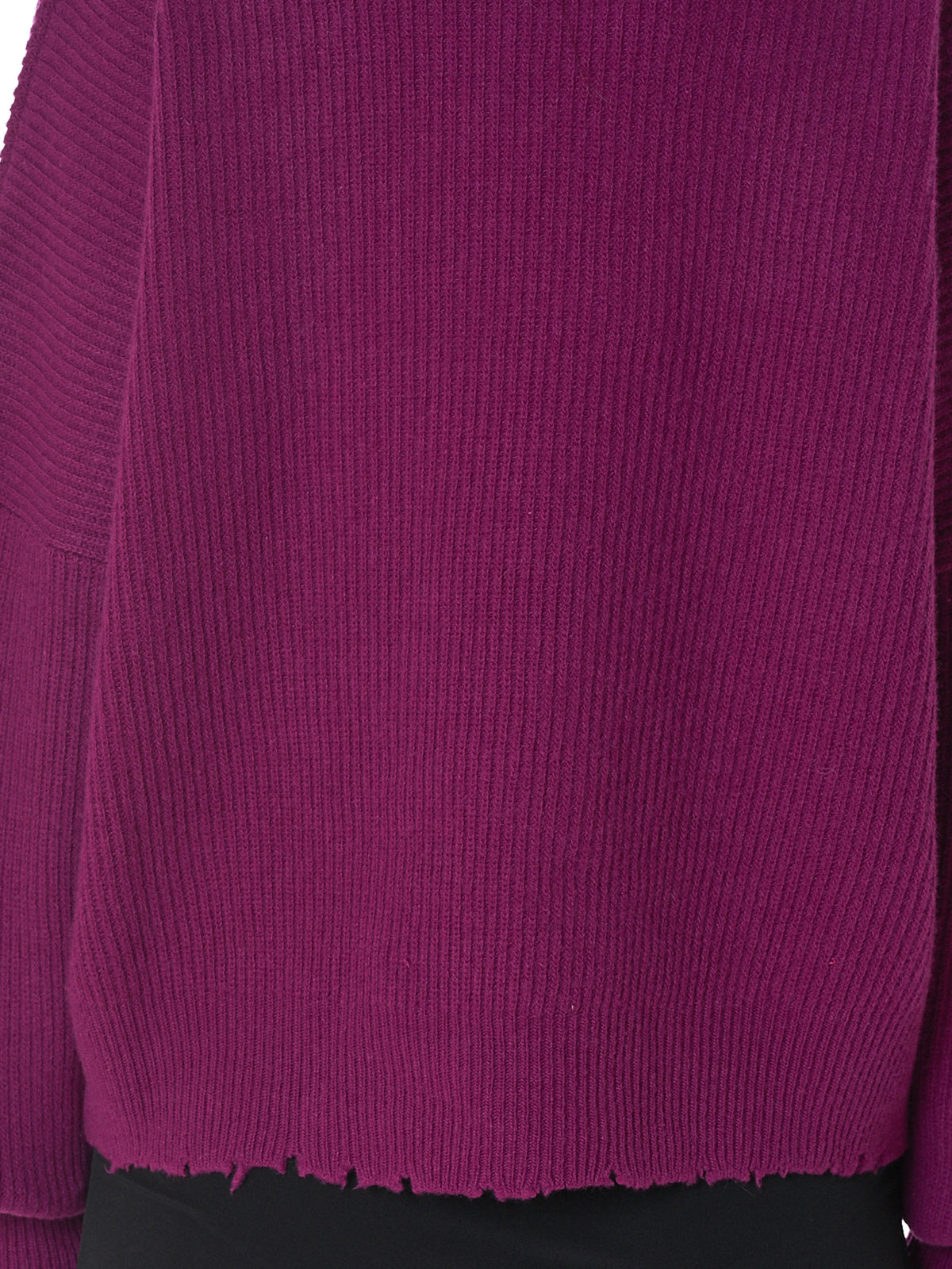 Raw Hem Sweater (UWHE006F18063001-MAUVE)