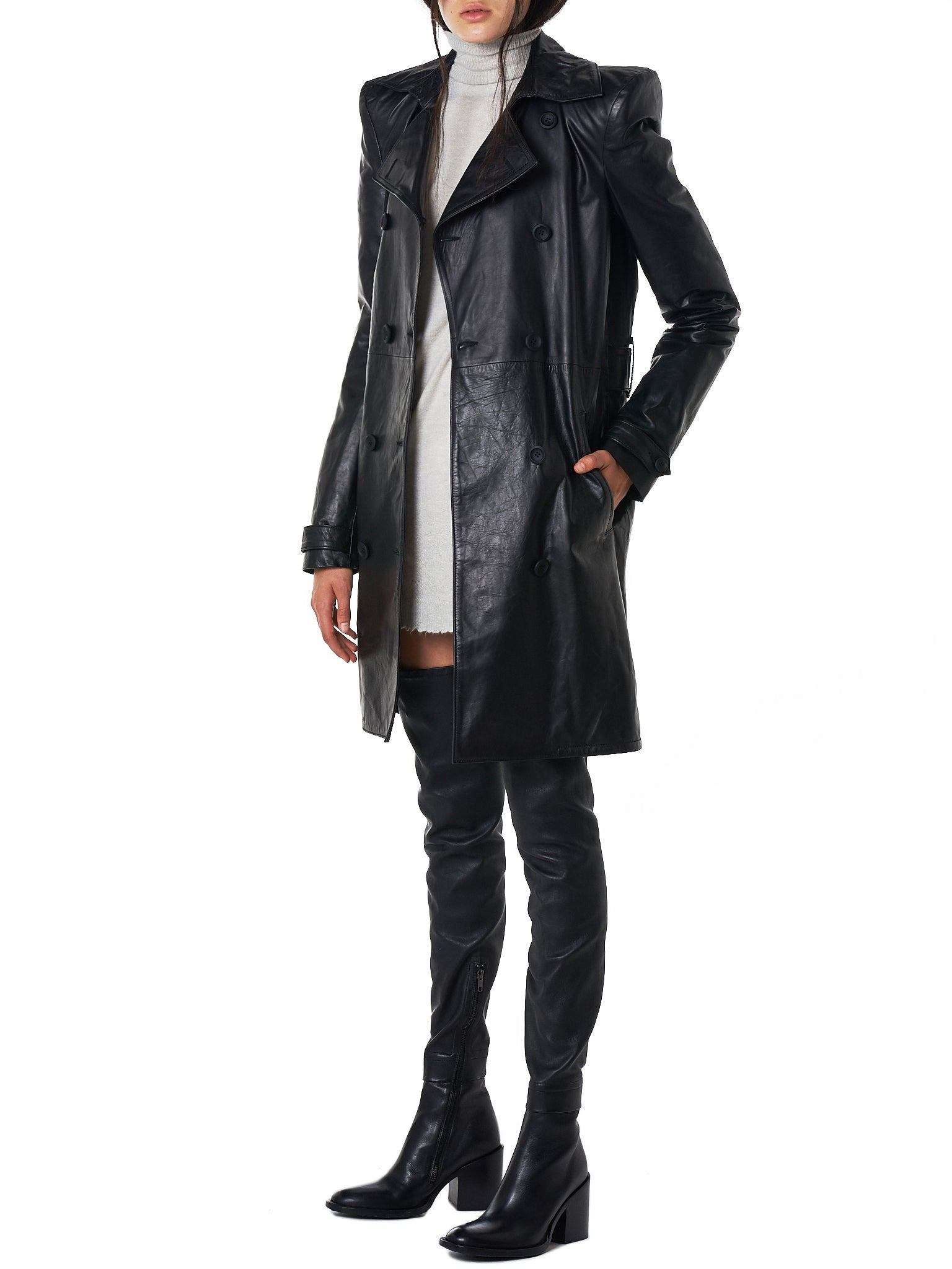 Unravel Leather Coat - Hlorenzo Style