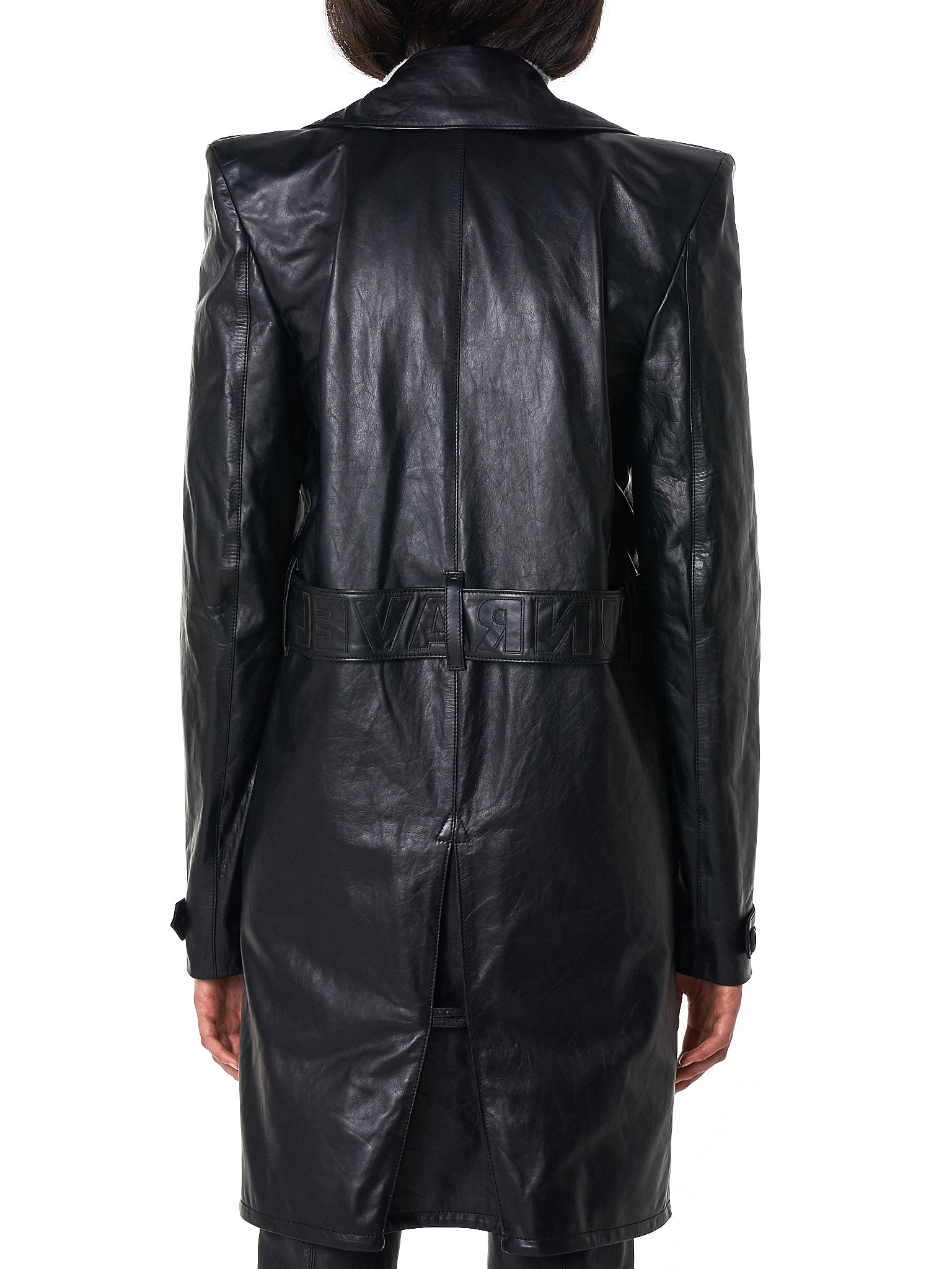 Unravel Leather Coat - Hlorenzo Back