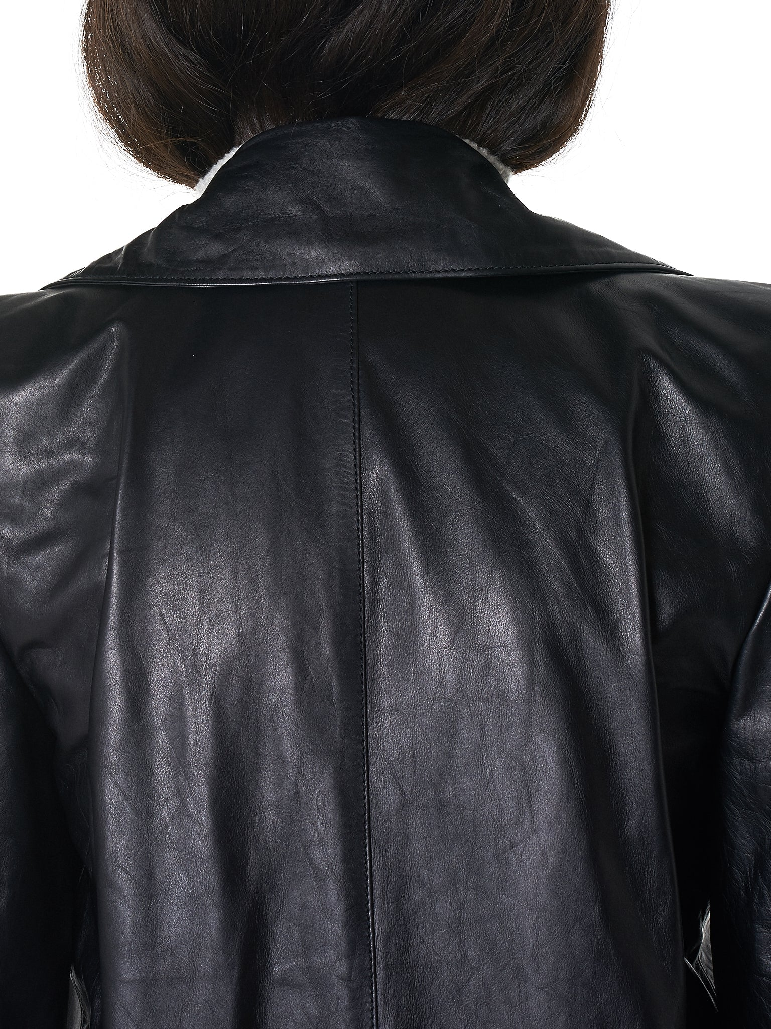 Unravel Leather Coat - Hlorenzo Detail 3