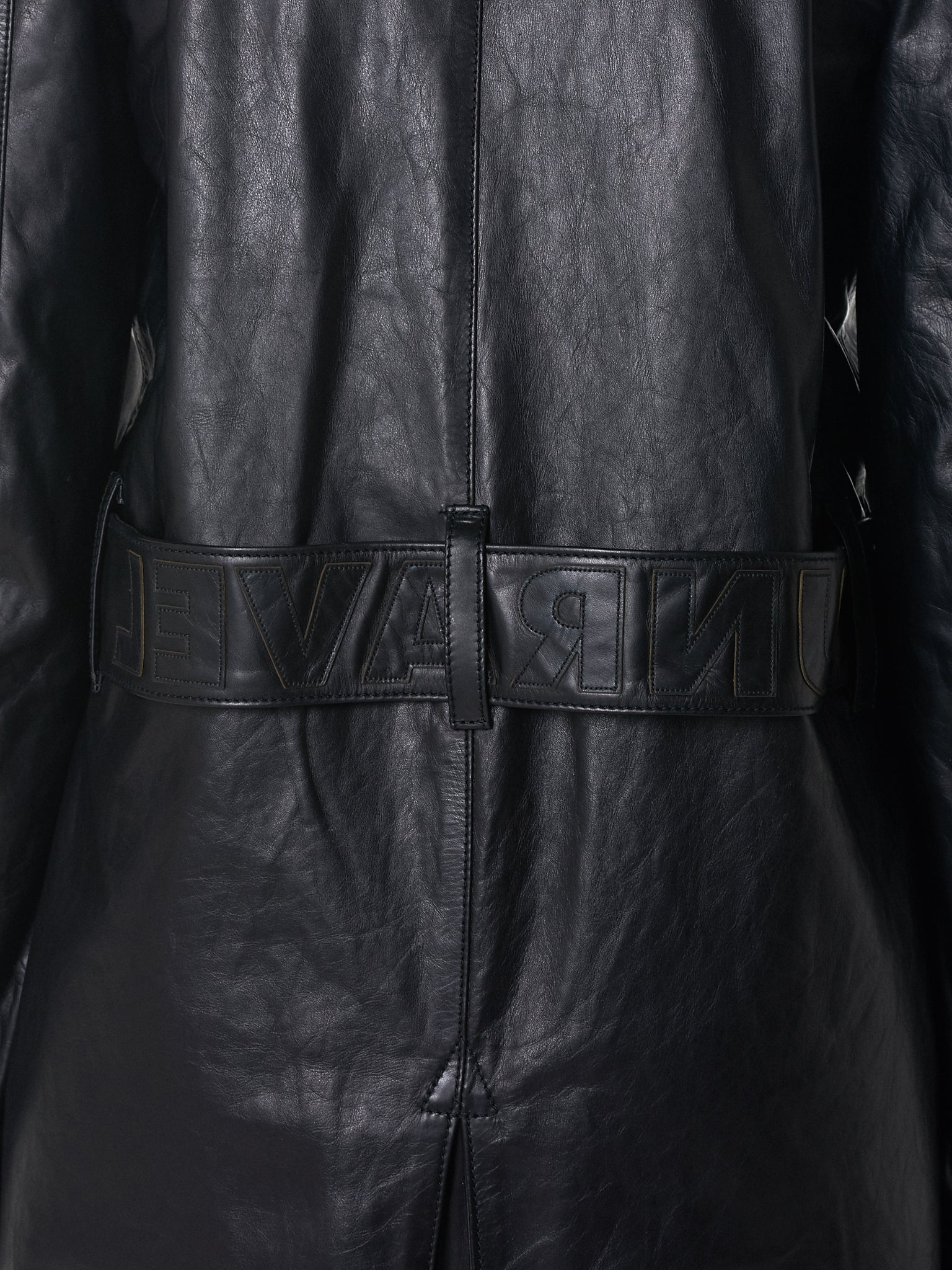 Unravel Leather Coat - Hlorenzo Detail 2