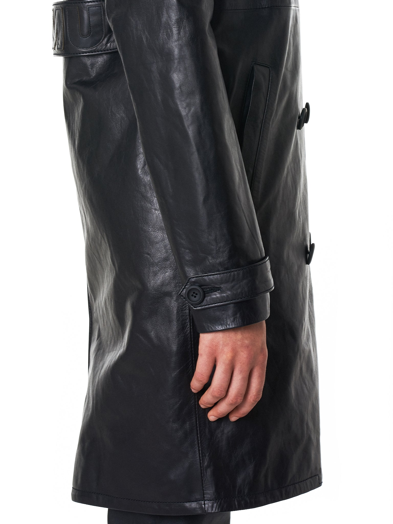 Unravel Leather Coat - Hlorenzo Detail 1