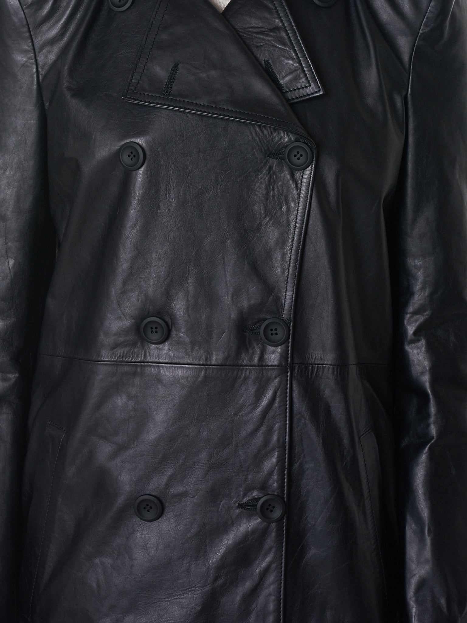 Unravel Leather Coat - Hlorenzo Detail 4