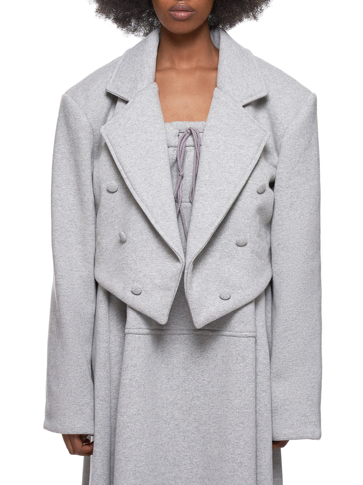 Cropped Blazer (VAQ-10-OW-01-GREY)