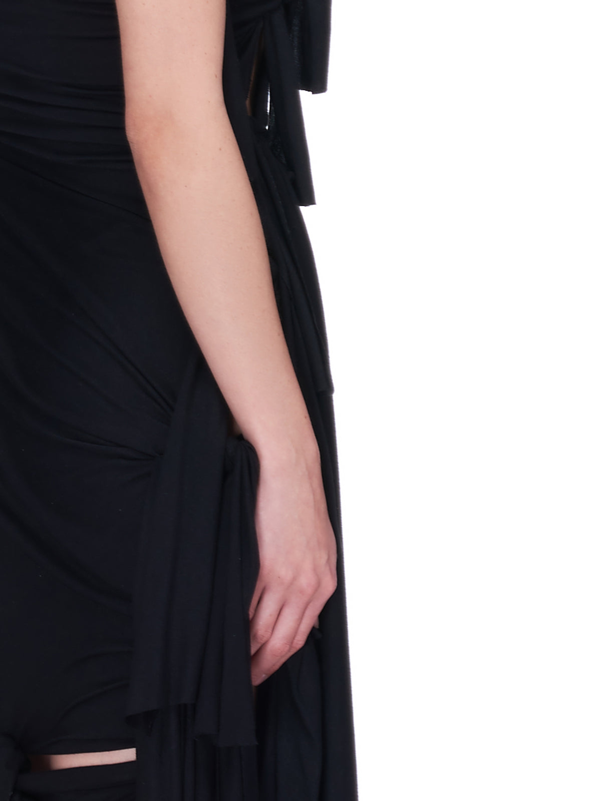 Slash Dress (VAQ01S003-BLACK)