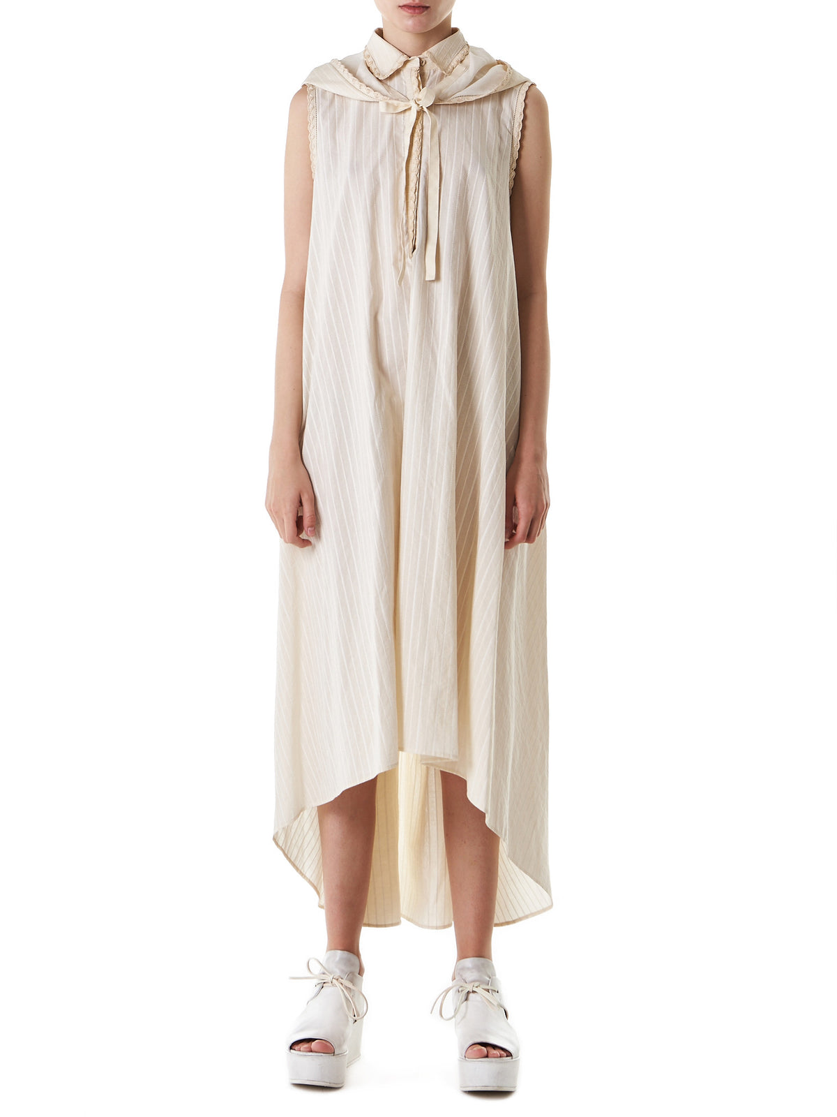 Striped Hooded Nightgown (VDI402A-VI150-044) - H. Lorenzo