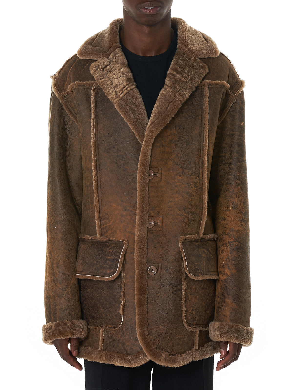NAHMIAS Shearling Coat - Hlorenzo Front