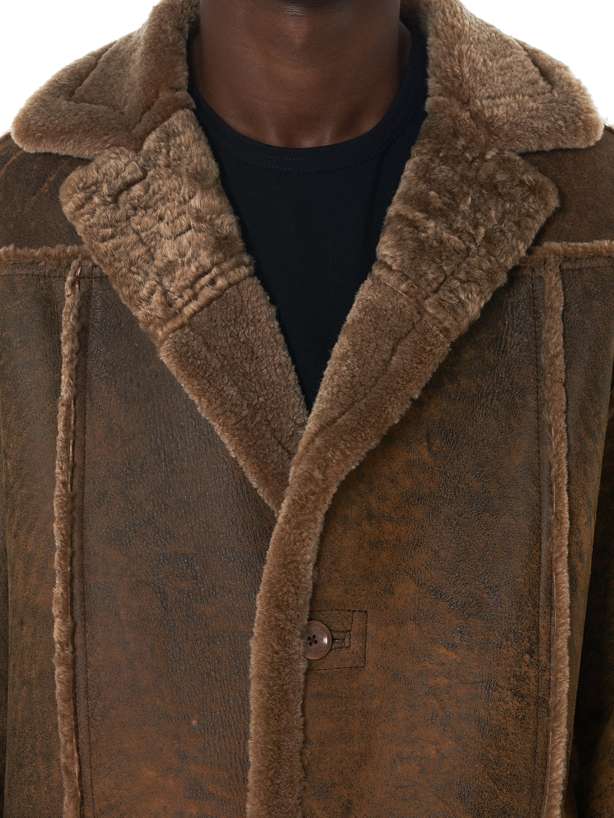 NAHMIAS Shearling Coat - Hlorenzo Detail