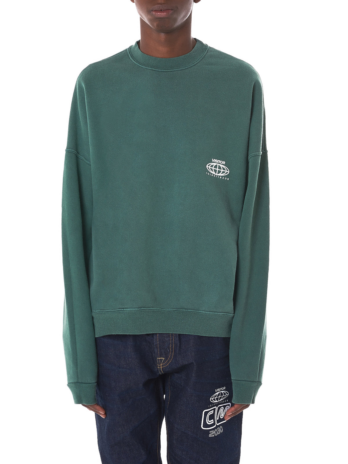 'VOE Enterprise' Crewneck Sweatshirt (VOE29-EARTH-GREEN)
