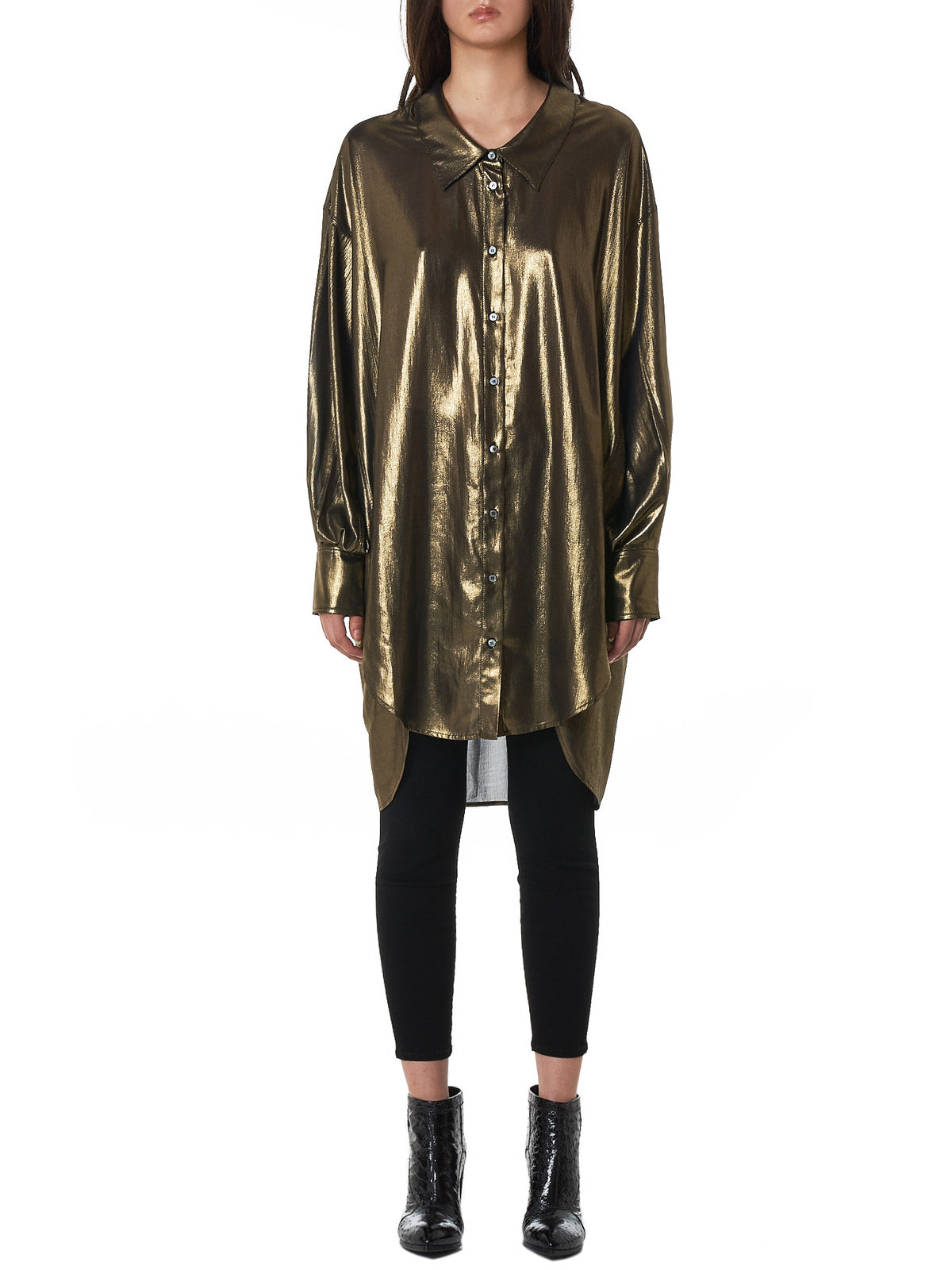 Faith Connexion Metallic Shirt - Hlorenzo Front